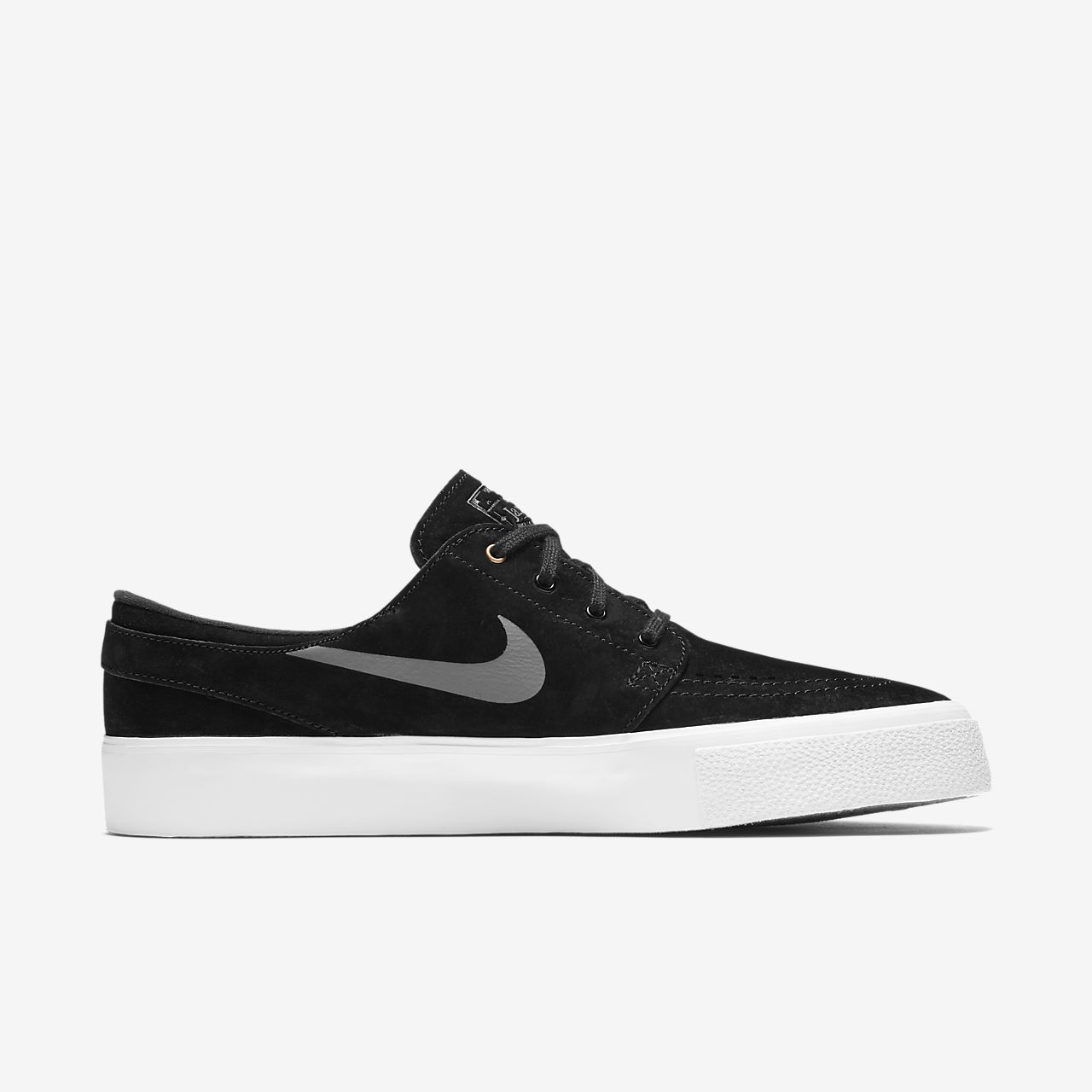Womens Nike Sb Zoom Stefan Janoski Black/White/Light Brown Skateboarding Shoe