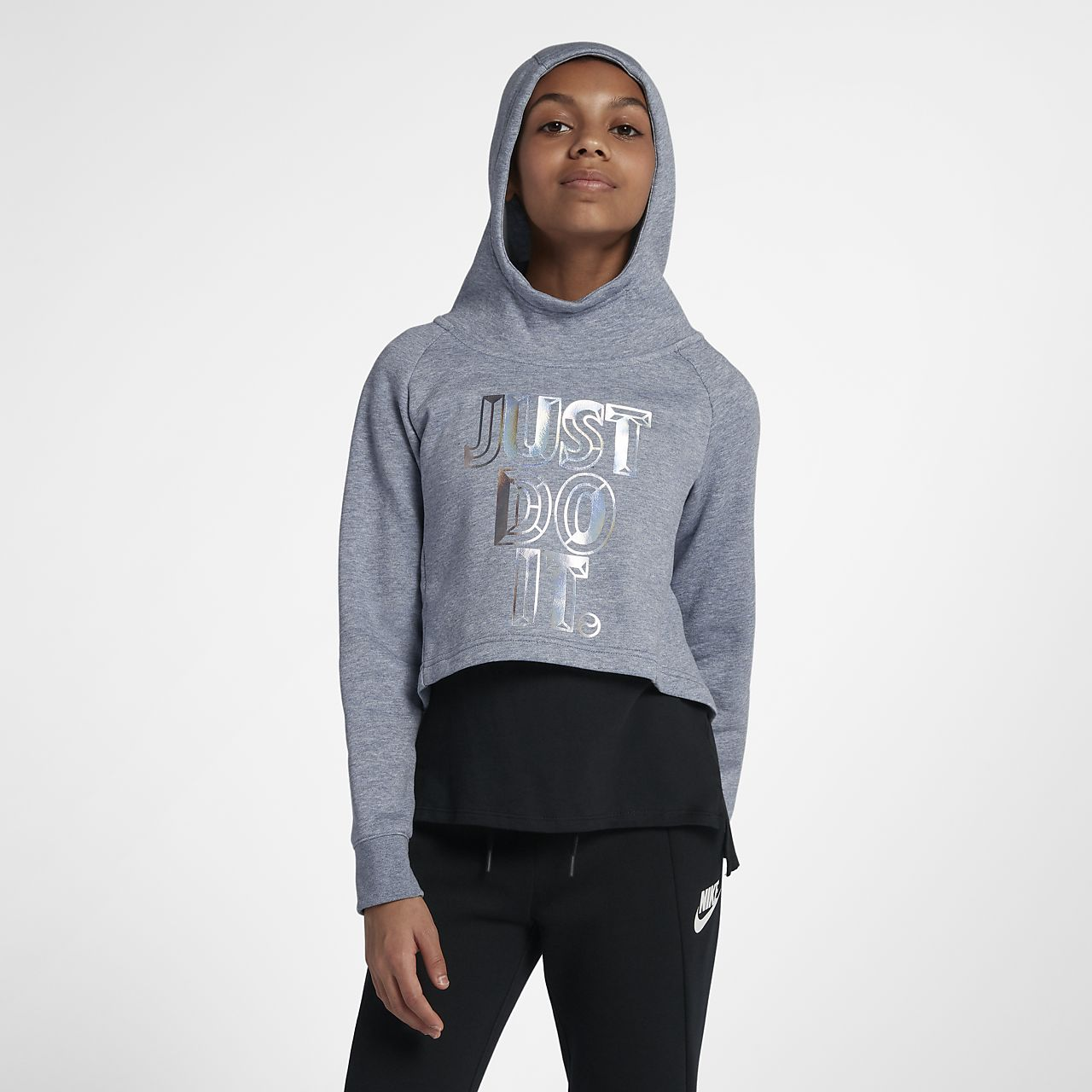 128f5e921b Sweat à capuche court JDI Nike Sportswear pour Fille plus âgée. Nike ...