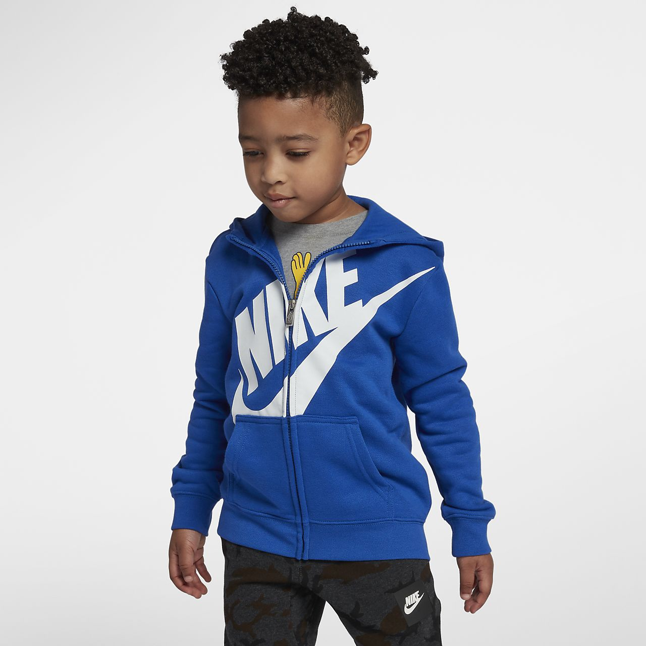 Nike-fleecehættetrøje til små børn