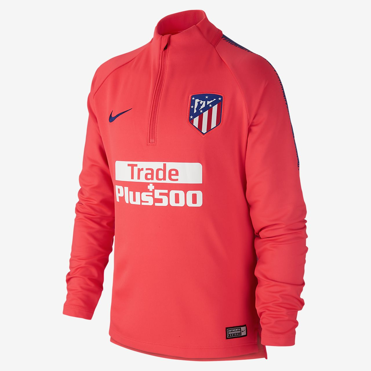 Atletico de Madrid Dri-FIT Squad Drill Older Kids' Long-Sleeve Football Top