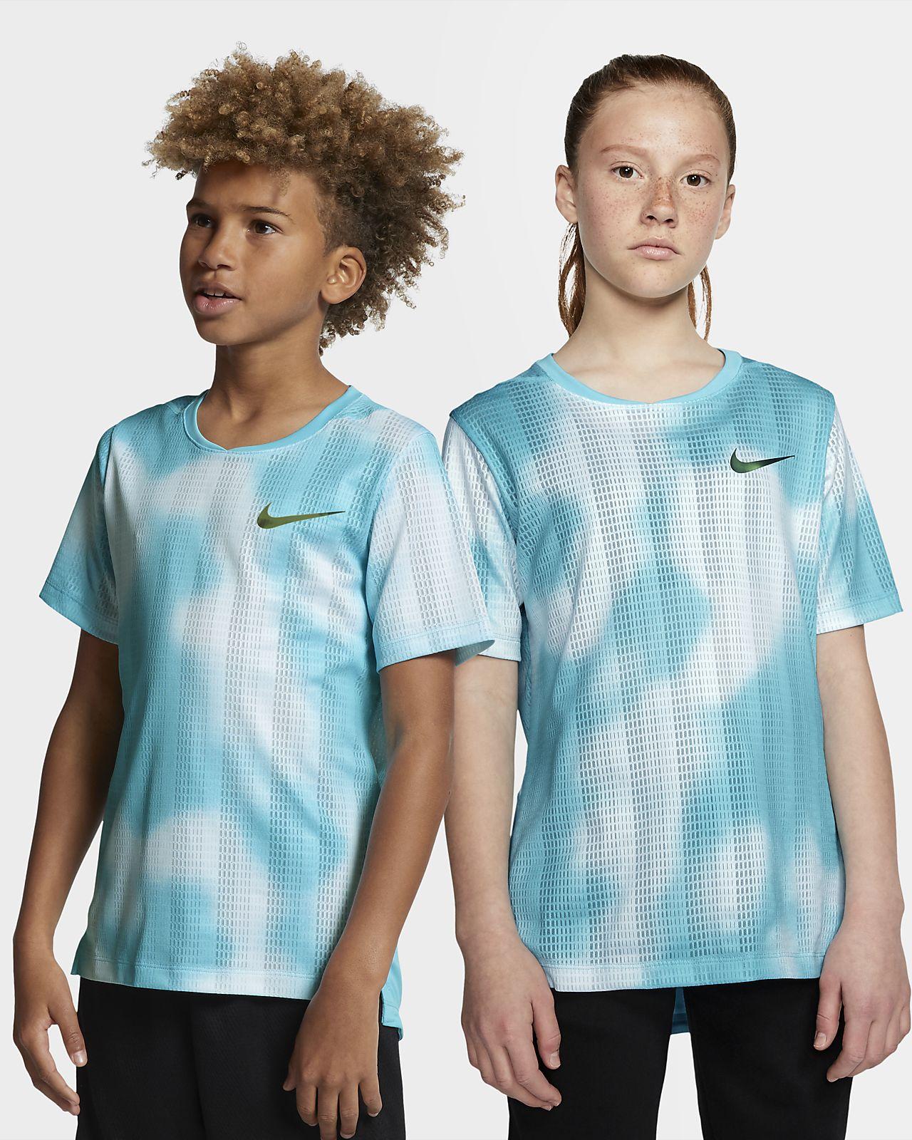 Nike Instacool rövid ujjú edzőfelső nagyobb gyerekeknek
