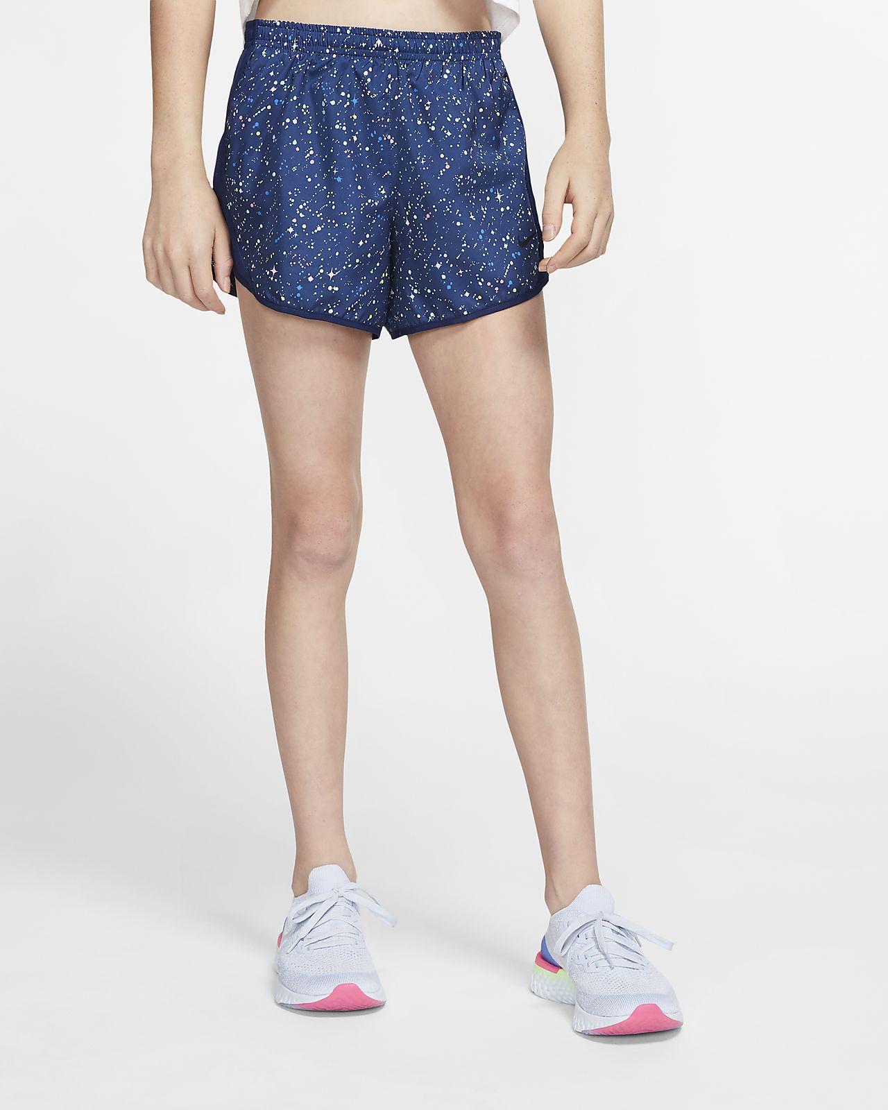 Nike Dri FIT Tempo Older Kids' (Girls') Printed Running Shorts