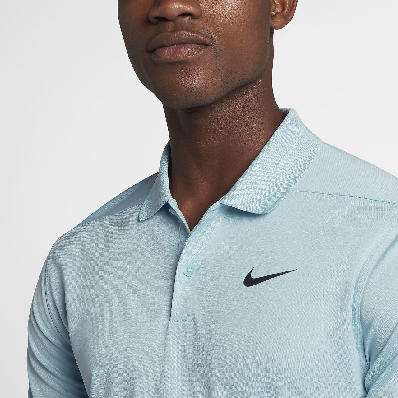 Polo de golf coupe standard Nike Dri-FIT Victory Left Chest pour Homme - Noir dQPsghgt6