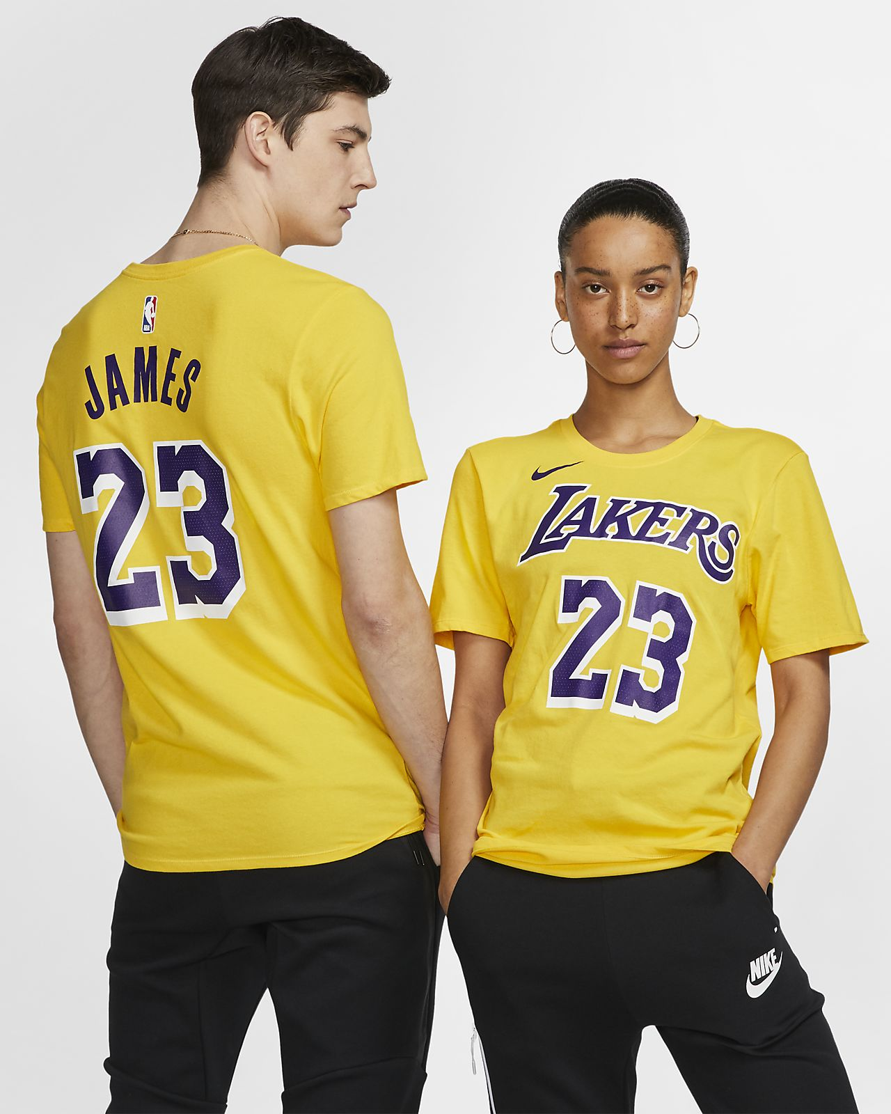 LeBron James Los Angeles Lakers Nike Dri-FIT Men s NBA T-Shirt. Nike.com b78eddf0957b