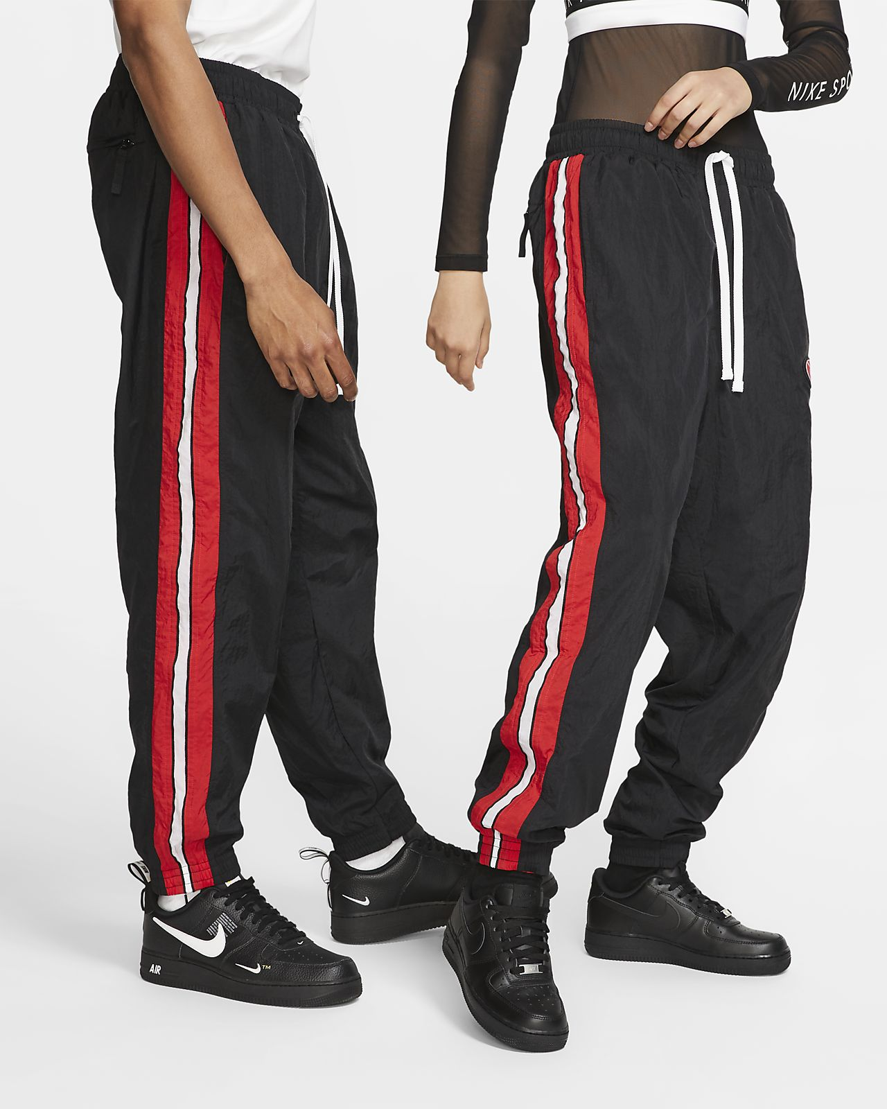 Nike Throwback Woven Tracksuit Basketball Pants Mens Style