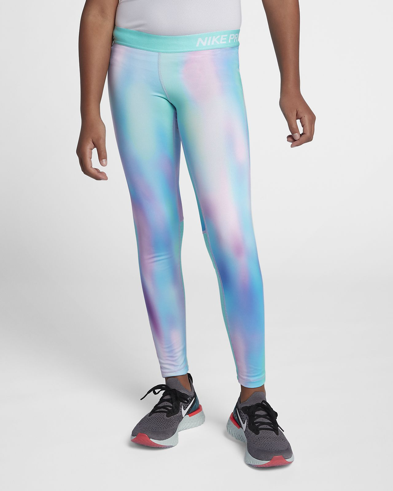 Nike Pro Warm Older Kids' (Girls') Printed Training Tights