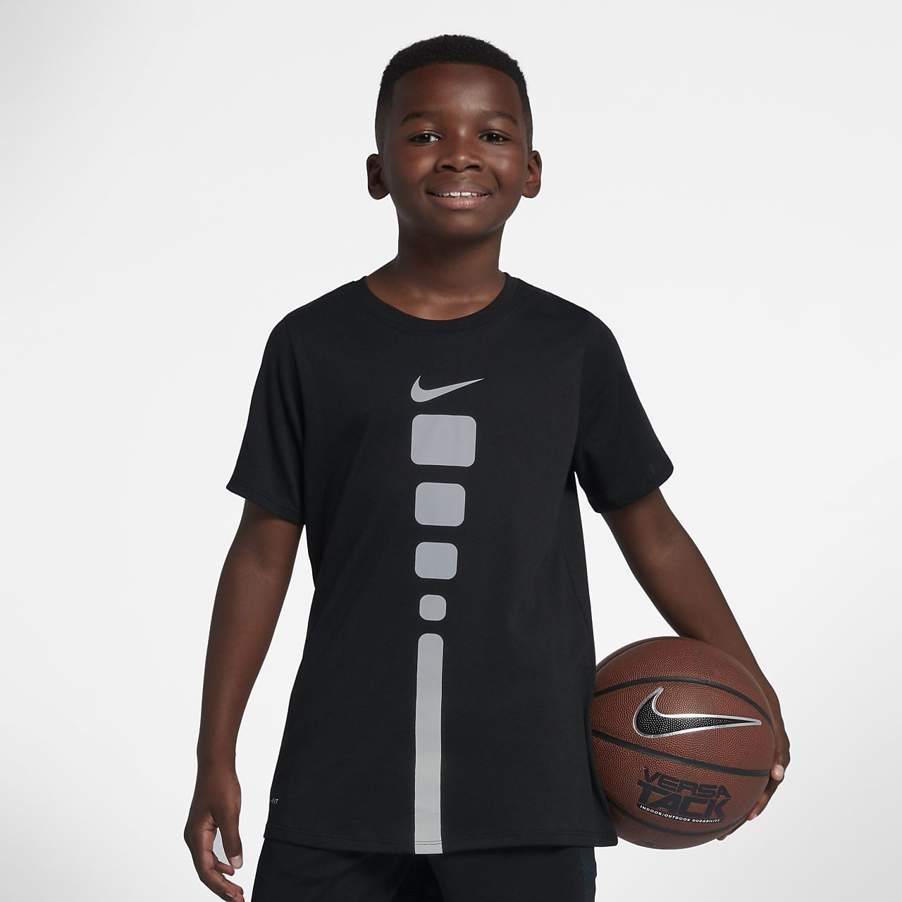 b0db91377e47 Nike Dri-FIT Elite Big Kids  (Boys ) Basketball T-Shirt. Nike.com