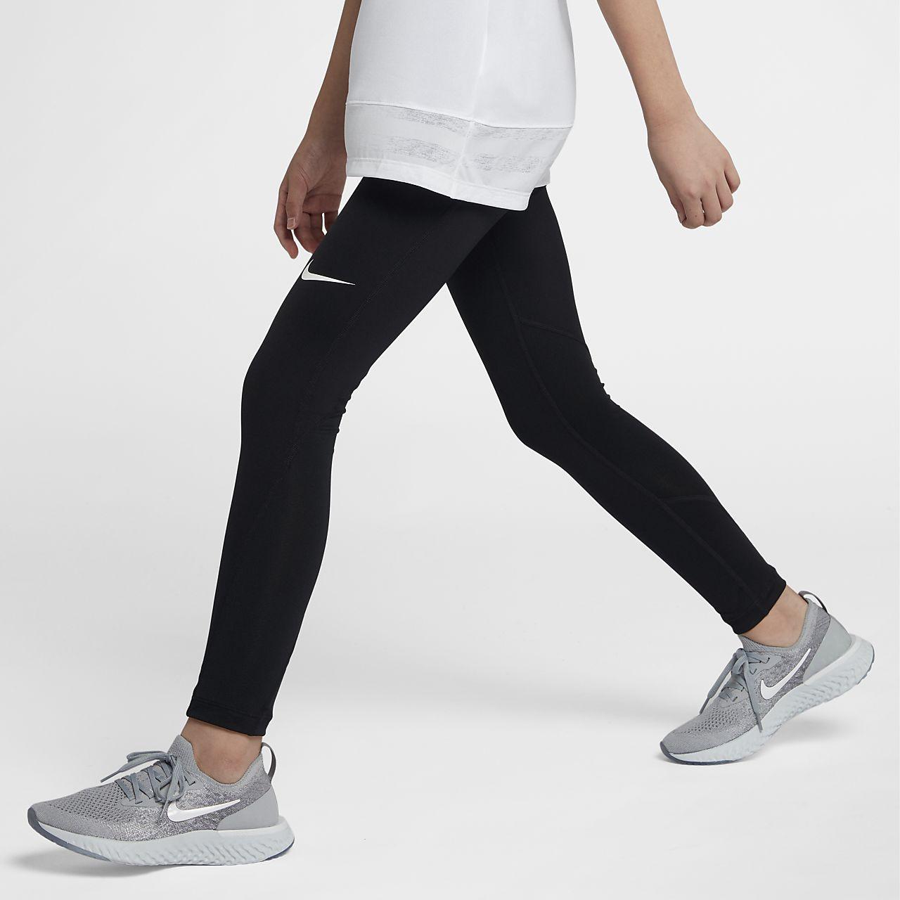 Tights de treino Nike Pro Júnior (Rapariga)