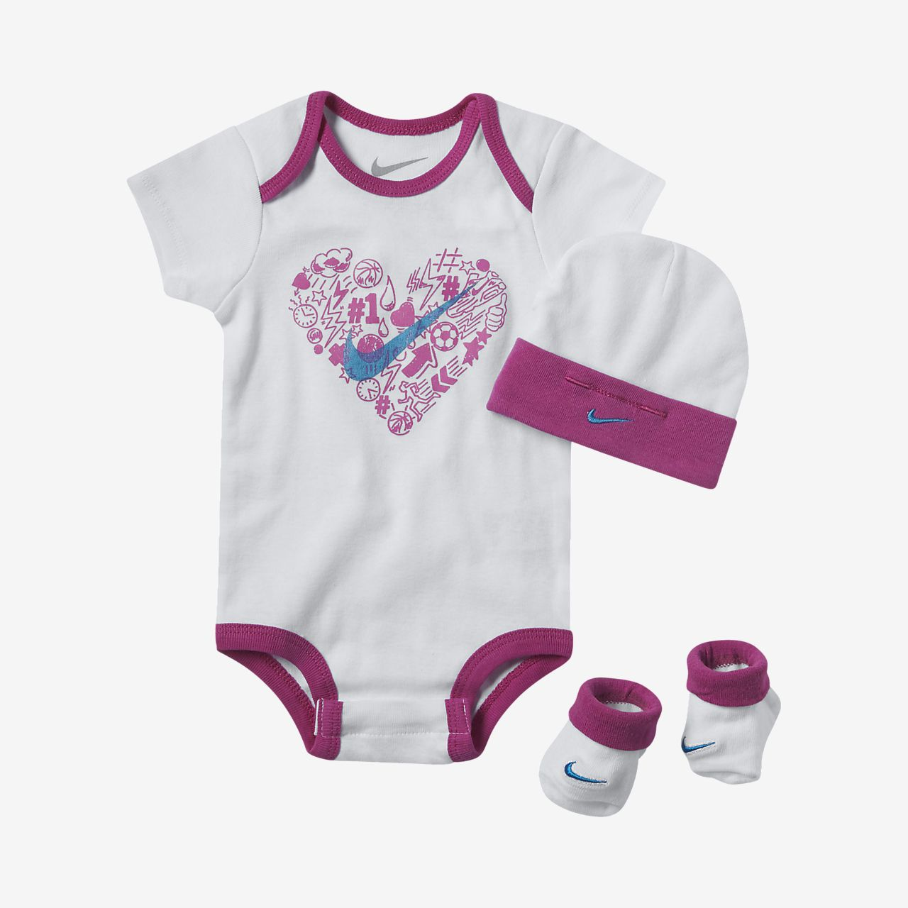 ... Nike Doodle Heart Three-Piece Infant Set