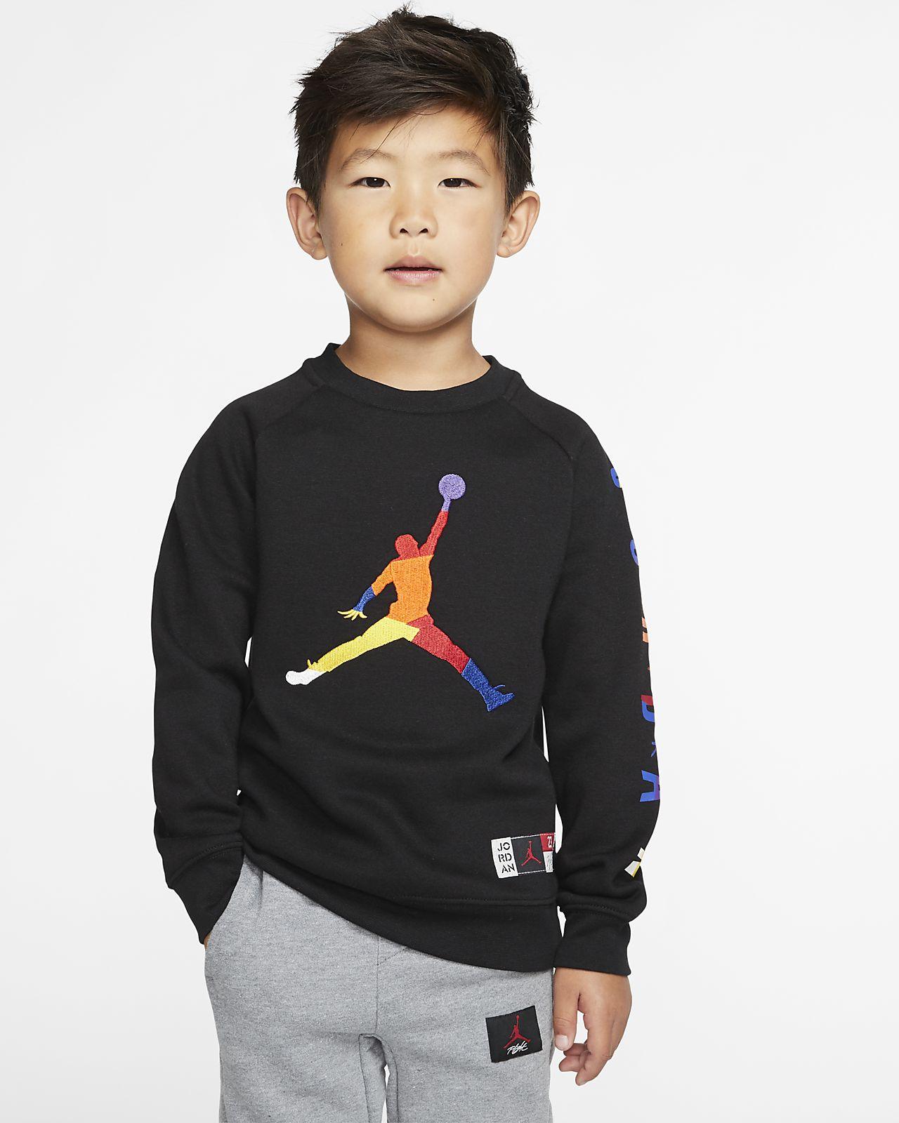 Air Jordan 幼童起绒套头圆领上衣