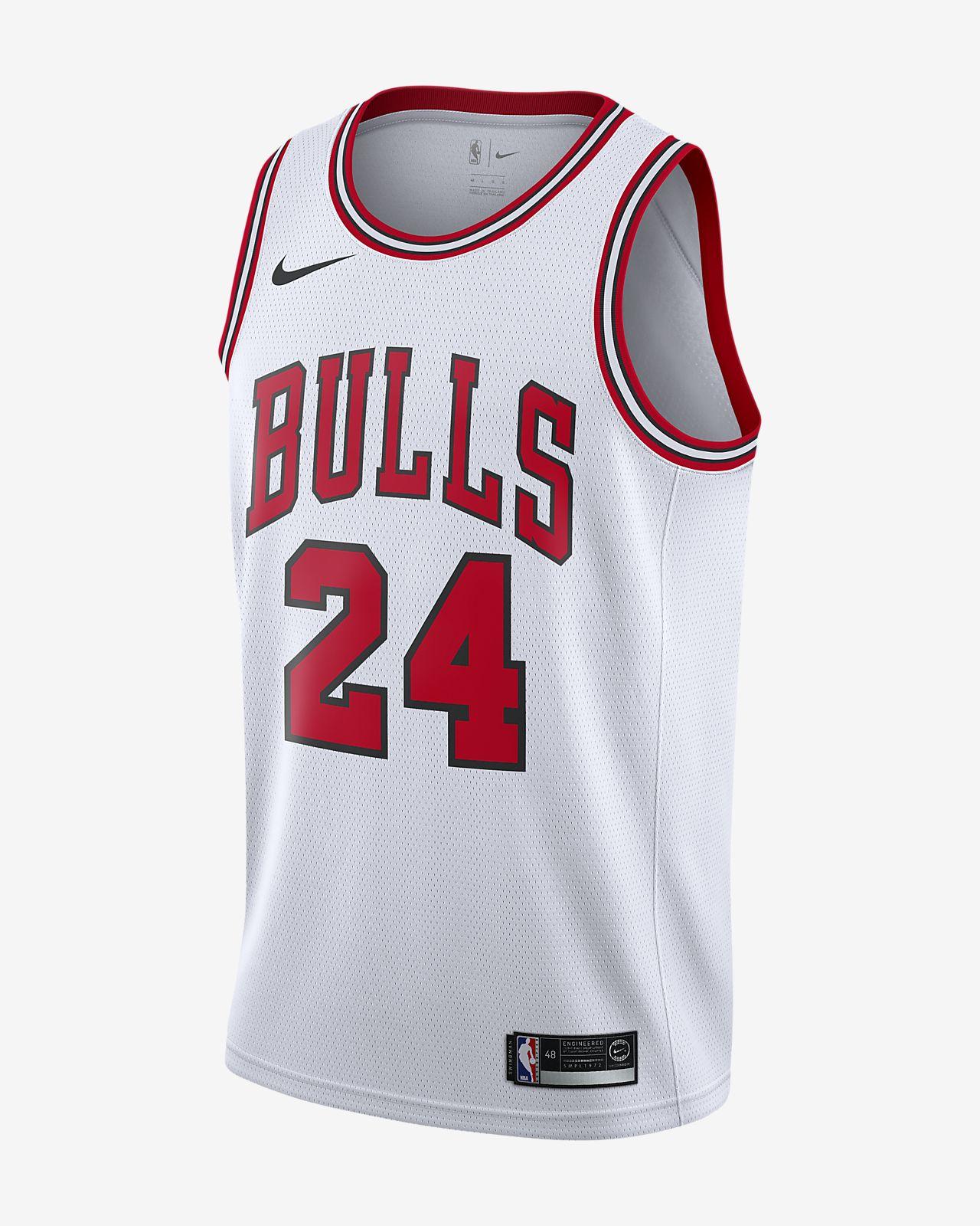 Maillot connecté Nike NBA Lauri Markkanen Association Edition Swingman (Chicago Bulls) pour Homme