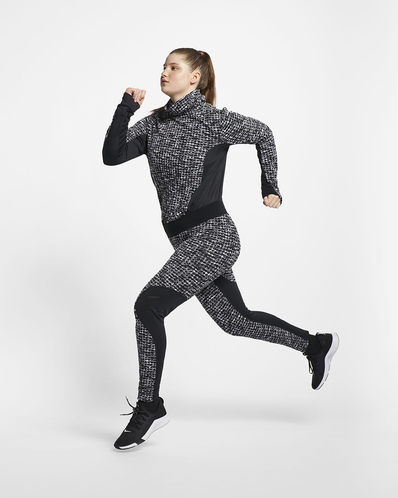 Nike Pro HyperWarm Damestights (grote maten)