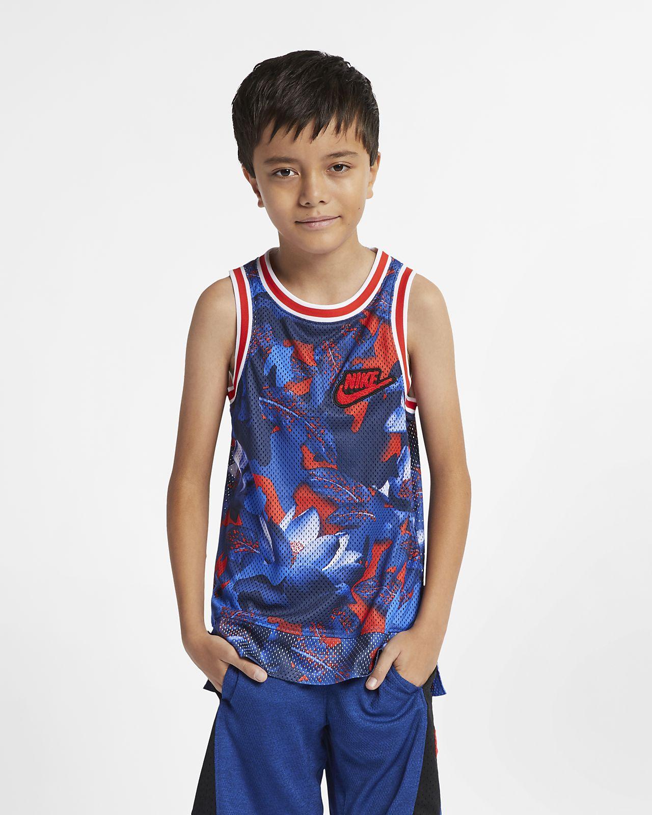 Nike Boys' Sleeveless Printed Basketball Top