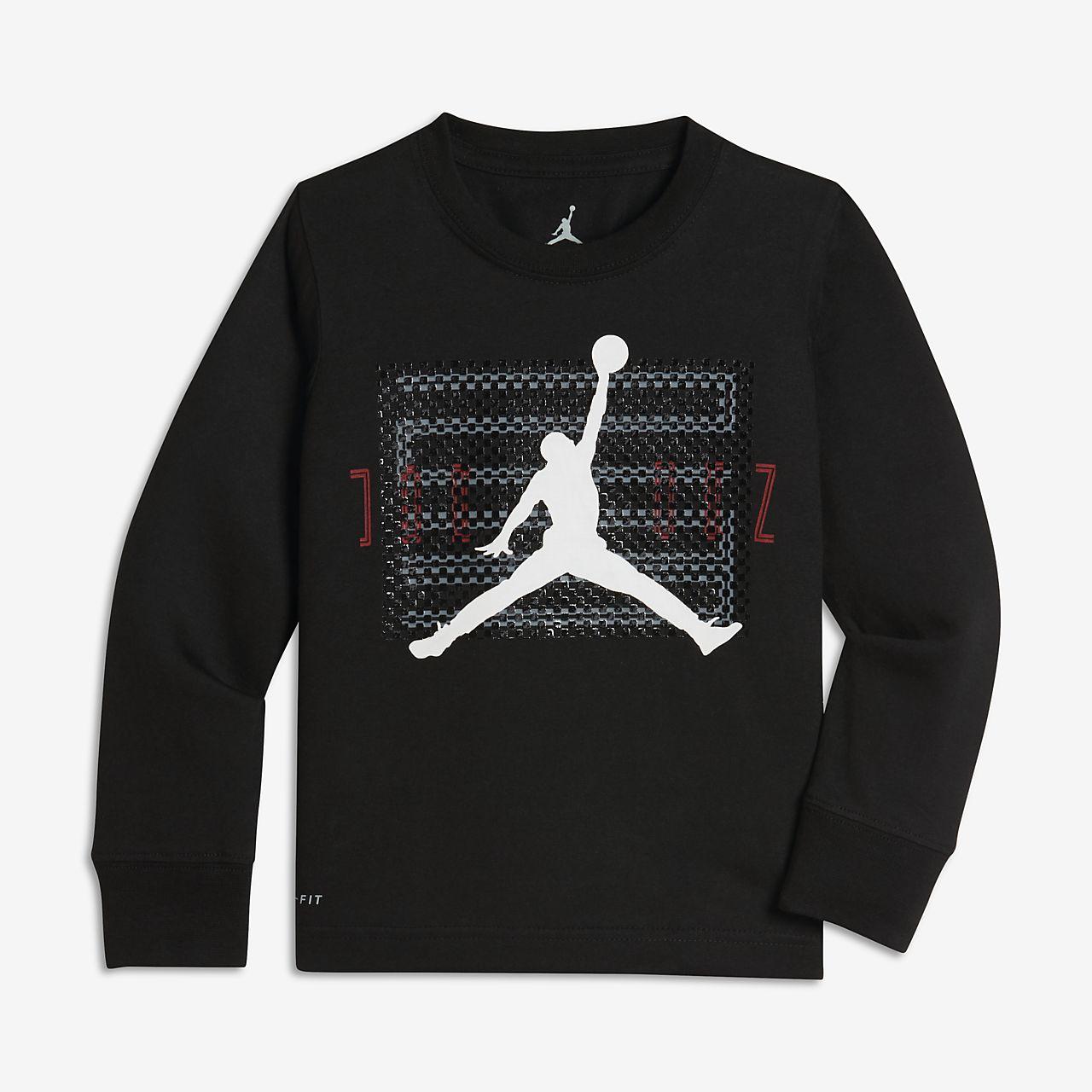 Jordan Dri-FIT Retro 11 T-shirt met lange mouwen voor kleuters (jongens)