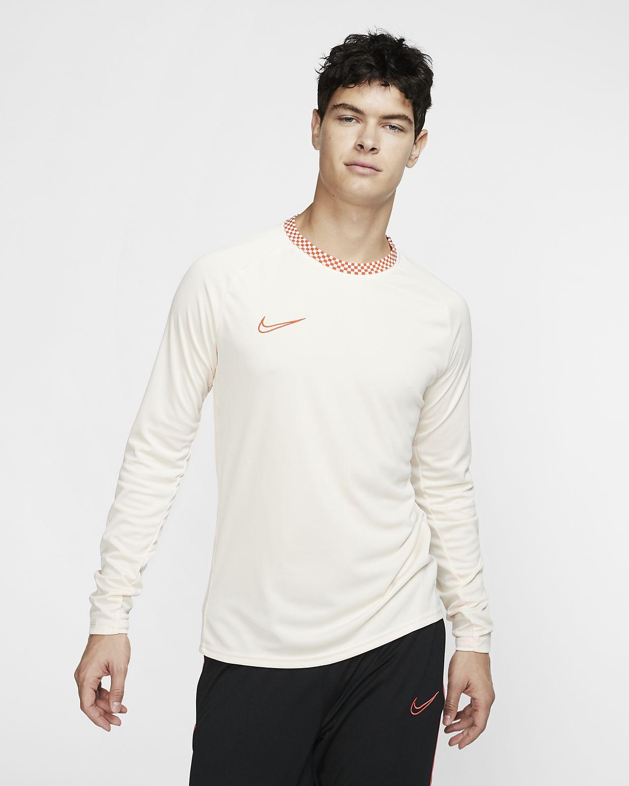 Nike Dri-FIT Academy-fodboldoverdel med lange ærmer til mænd