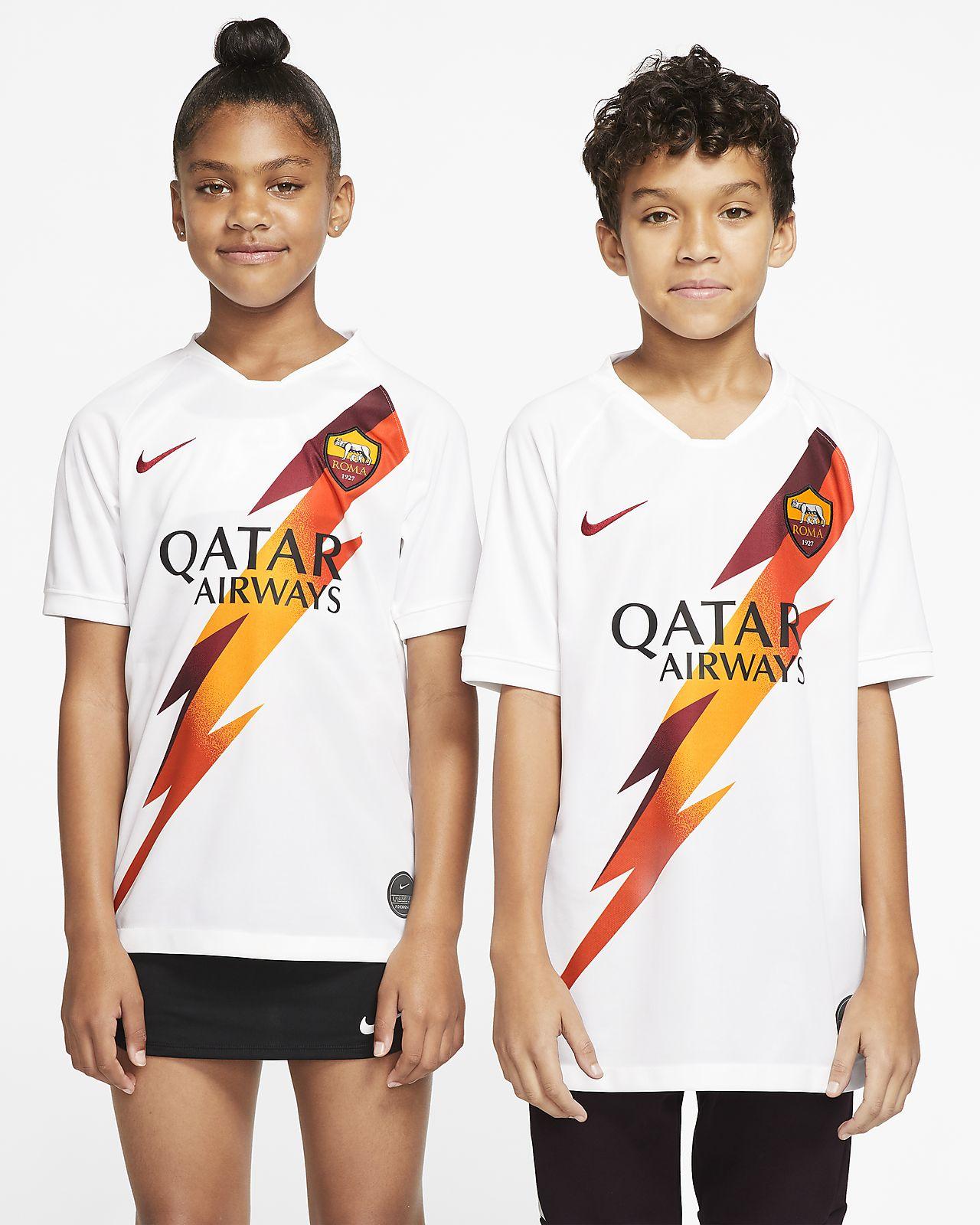 Camiseta de fútbol de visitante para niños talla grande Stadium del A.S. Roma 2019/20