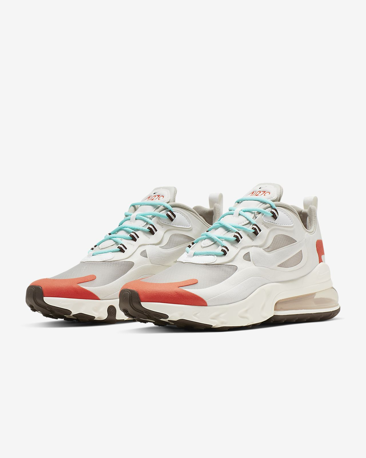 NIKE AIR MAX 270 REACT LIGHT BEIGE RED AO4971 200 bauhaus