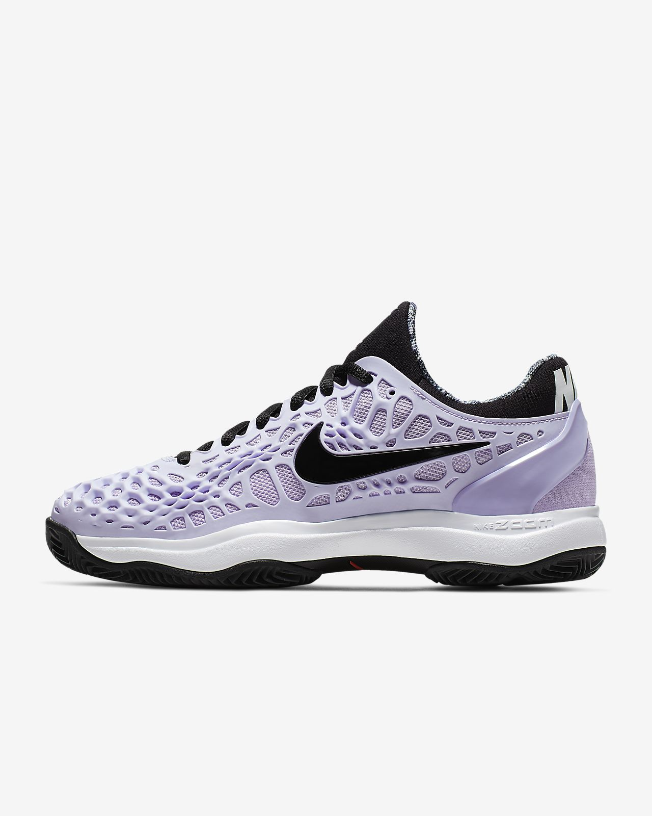 NikeCourt Zoom Cage 3 tennissko for grusbaner til dame