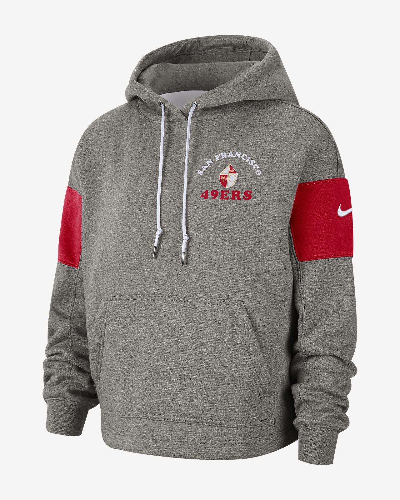 new style ad7ae f355d Nike Historic (NFL 49ers) Women's Pullover Hoodie