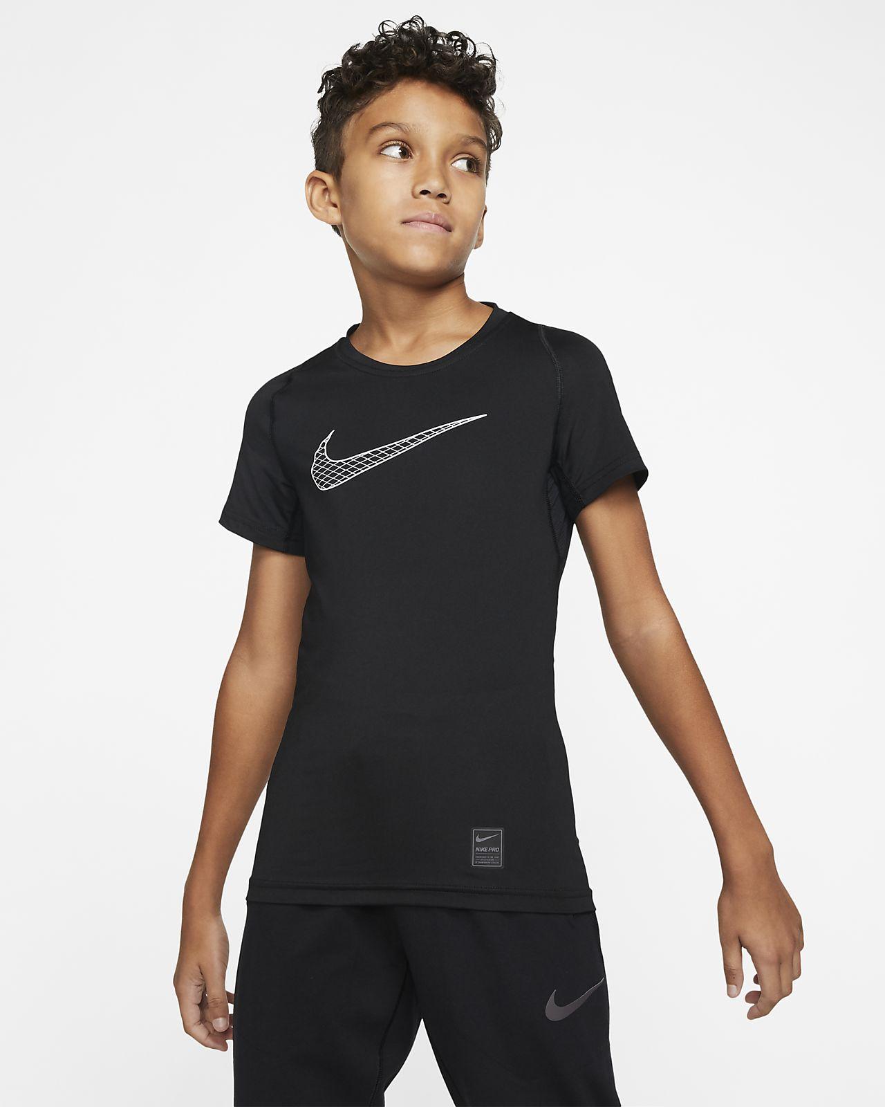 Nike Pro 大童 (男童) 短袖訓練上衣