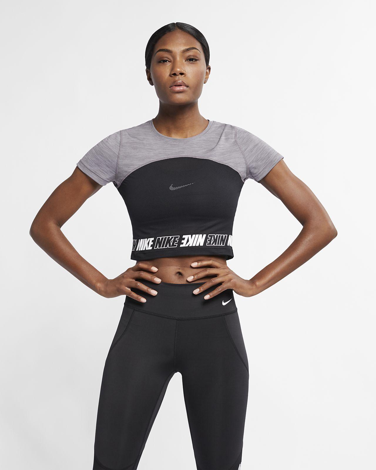 8d819432920fc4 Nike Pro Women s Short-Sleeve Crop Top. Nike.com BE