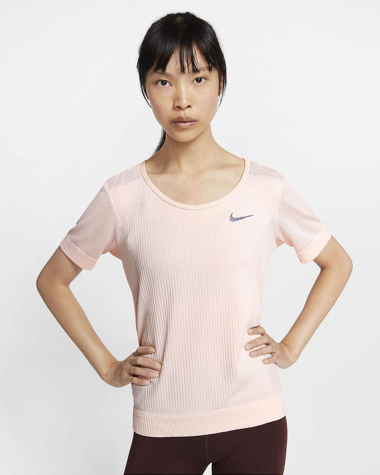 Damska koszulka z krótkim rękawem do biegania Nike Infinite