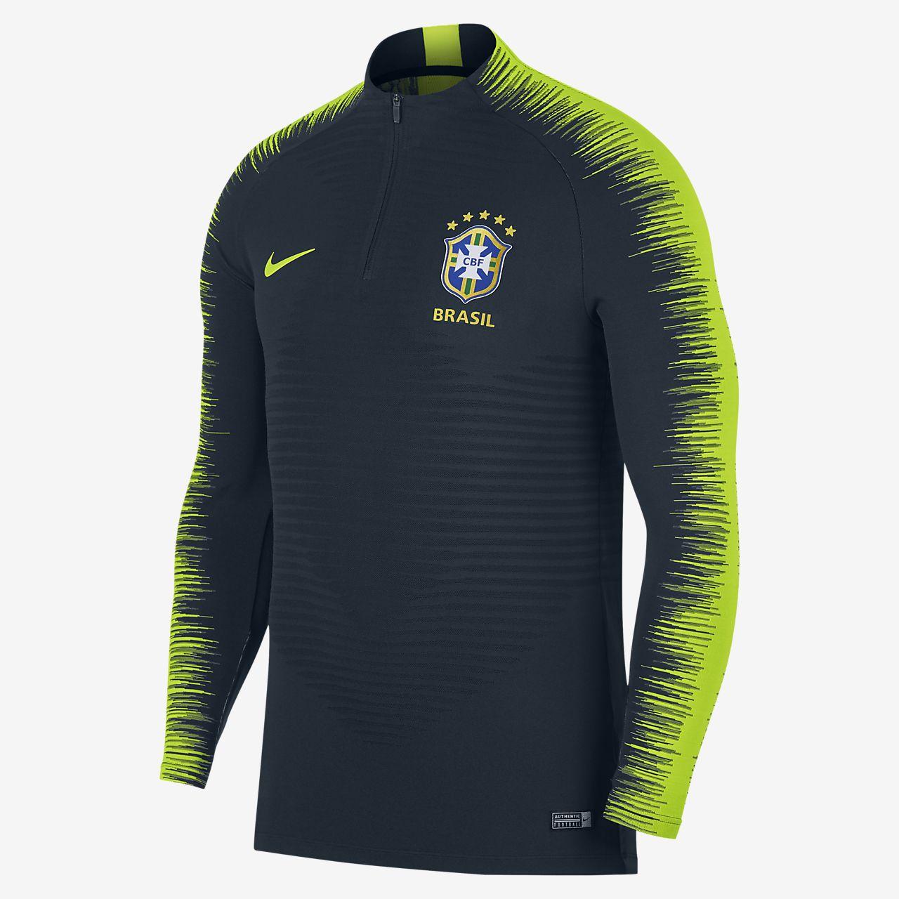 Pánské fotbalové tričko s dlouhým rukávem Brasil CBF VaporKnit Strike Drill