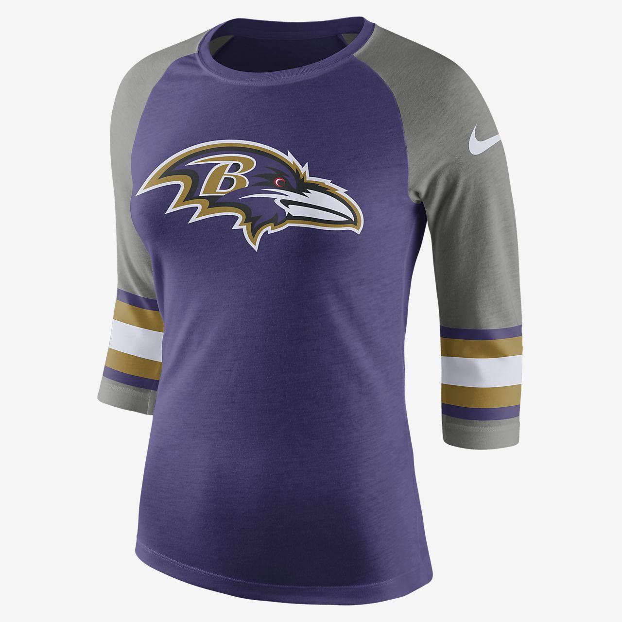 ... Dámské tričko s tříčtvrtečním rukávem Nike Tri-Blend Raglan (NFL Ravens) 3a7b613c90
