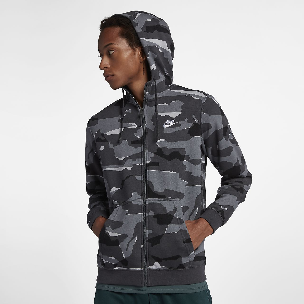 Nike Sportswear Club Herren-Hoodie mit durchgehendem Reißverschluss ... 52fc513a5a