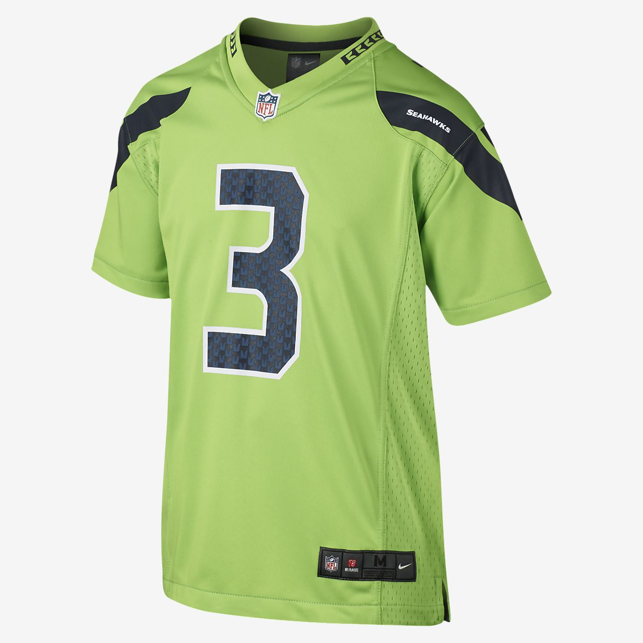 abc384410 Kids  Football Jersey. NFL Seattle Seahawks Color Rush Game Jersey (Russell  Wilson)