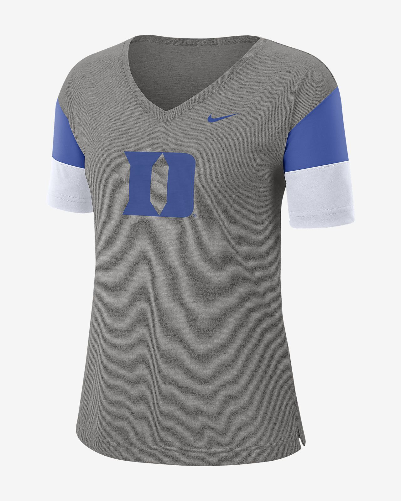 Nike College Breathe (Duke) Women's Short-Sleeve V-Neck Top