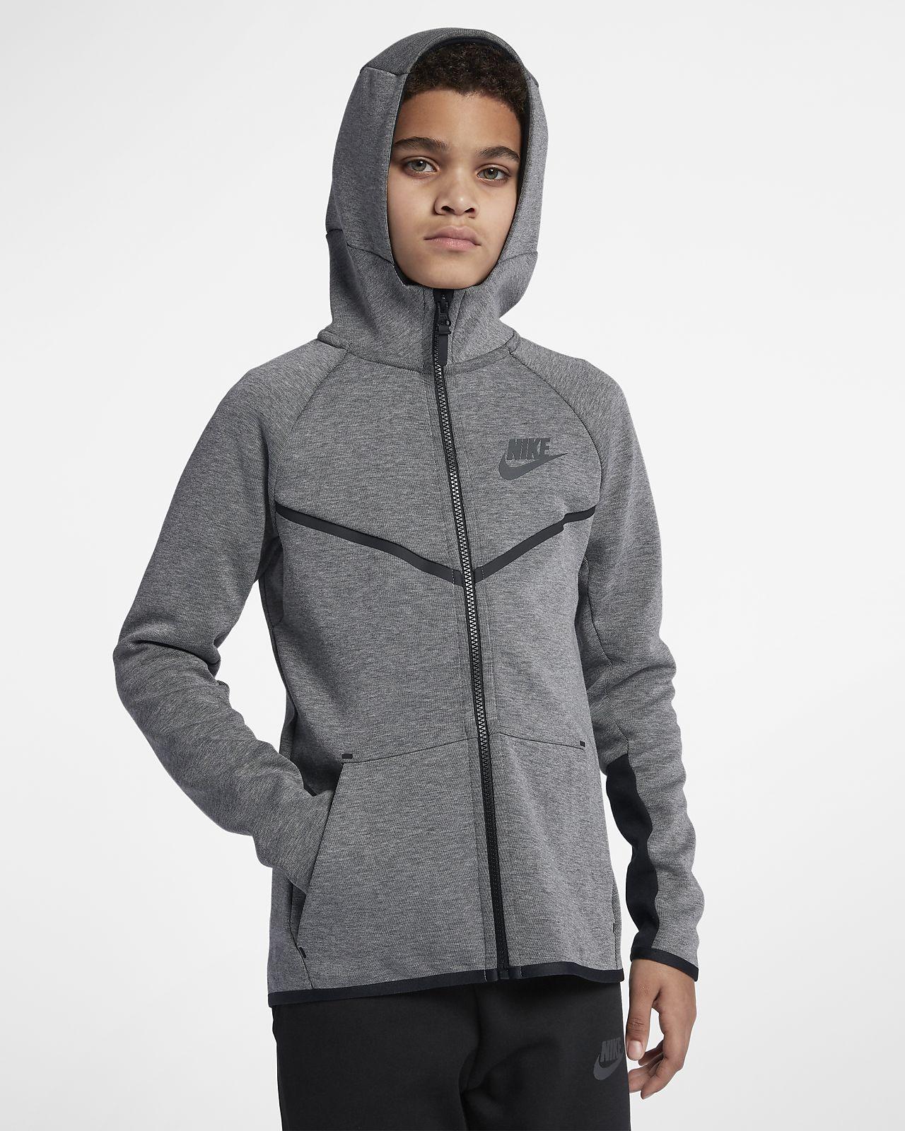 ... Nike Sportswear Tech Fleece Windrunner Older Kids' (Boys') Full-Zip  Hoodie