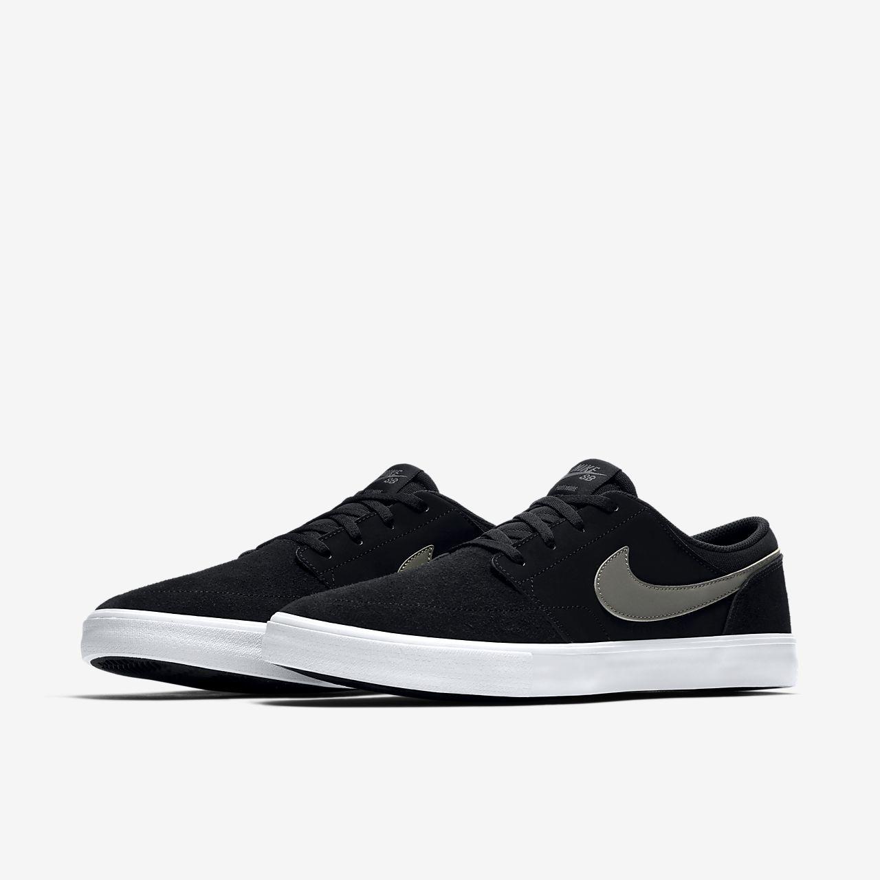 Nike SB Solarsoft Portmore II Mid Schuh (black white)