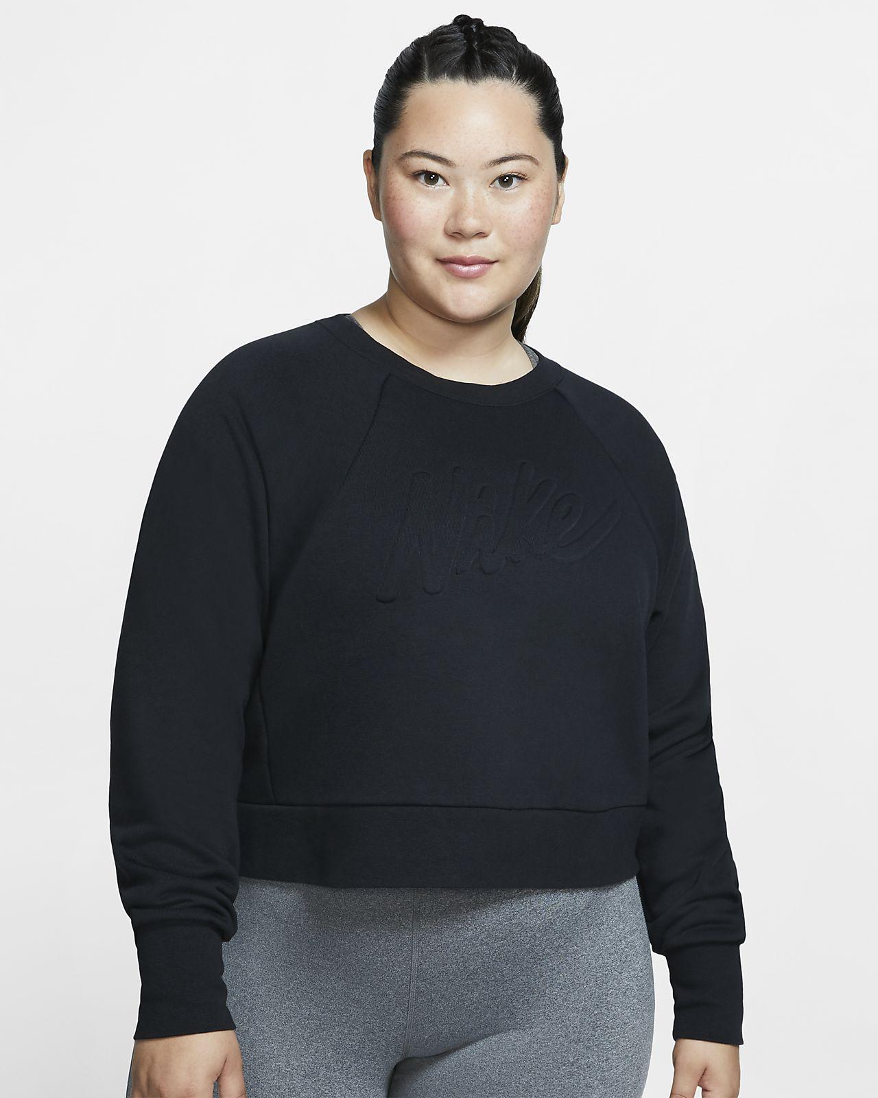 Женская футболка с длинным рукавом для тренинга Nike Dri-FIT (большие размеры)