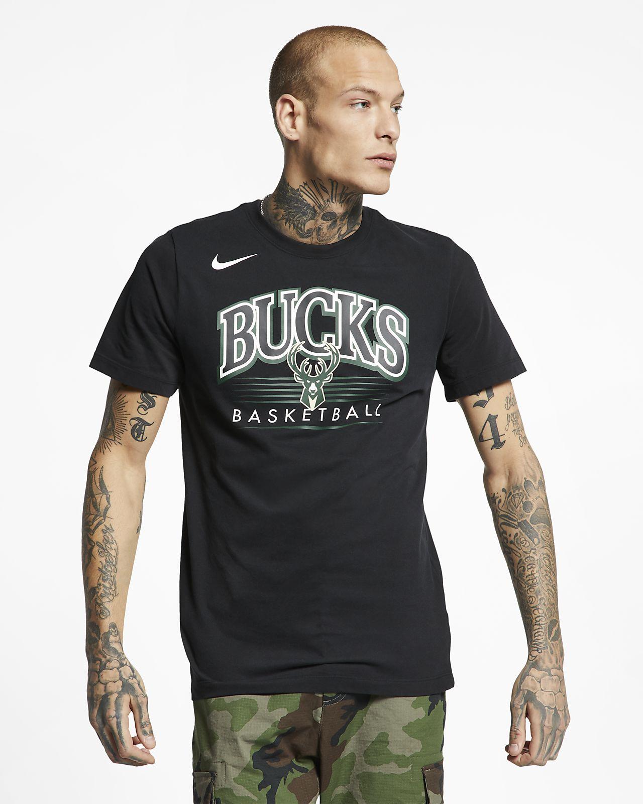 Pánské tričko NBA Milwaukee Bucks Nike Dri-FIT. Nike.com CZ 82ee86f065