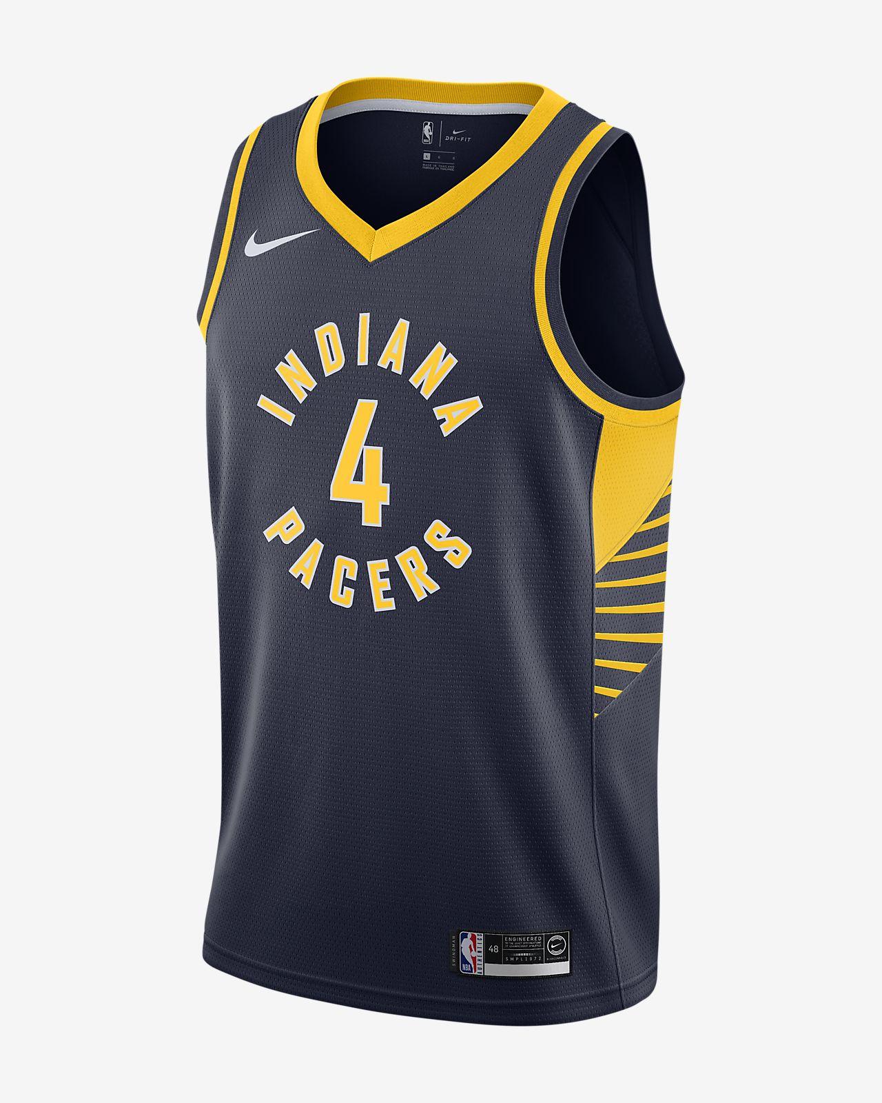 Camiseta conectada Nike NBA para hombre Victor Oladipo Icon Edition Swingman (Indiana Pacers)