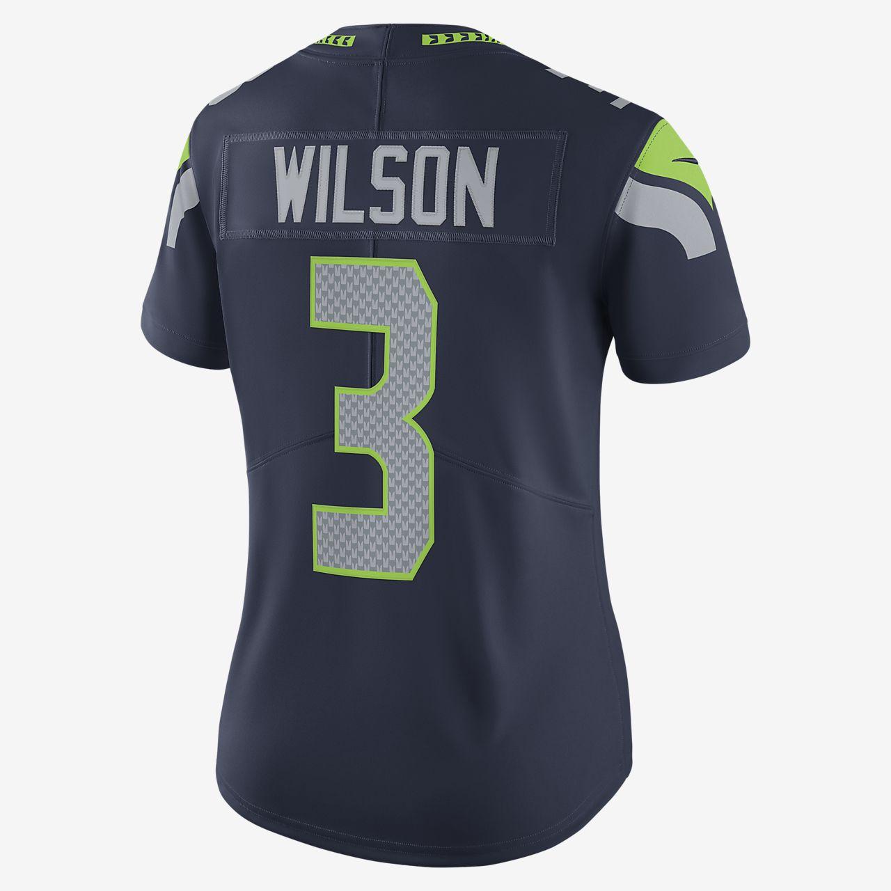 Hot NFL Seattle Seahawks (Russell Wilson) Women's Limited Vapor