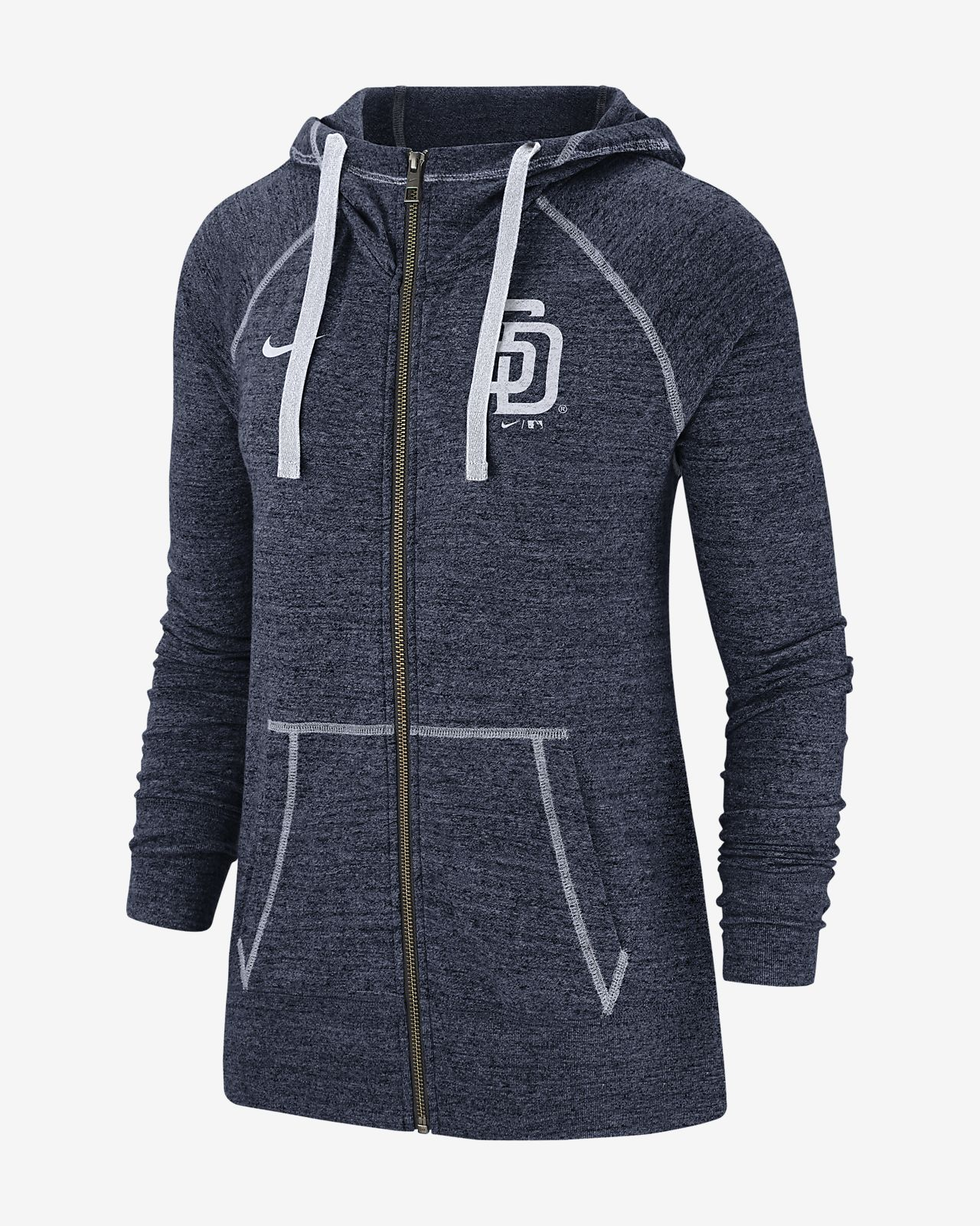 Nike Gym Vintage (MLB Padres) Women's Full-Zip Hoodie