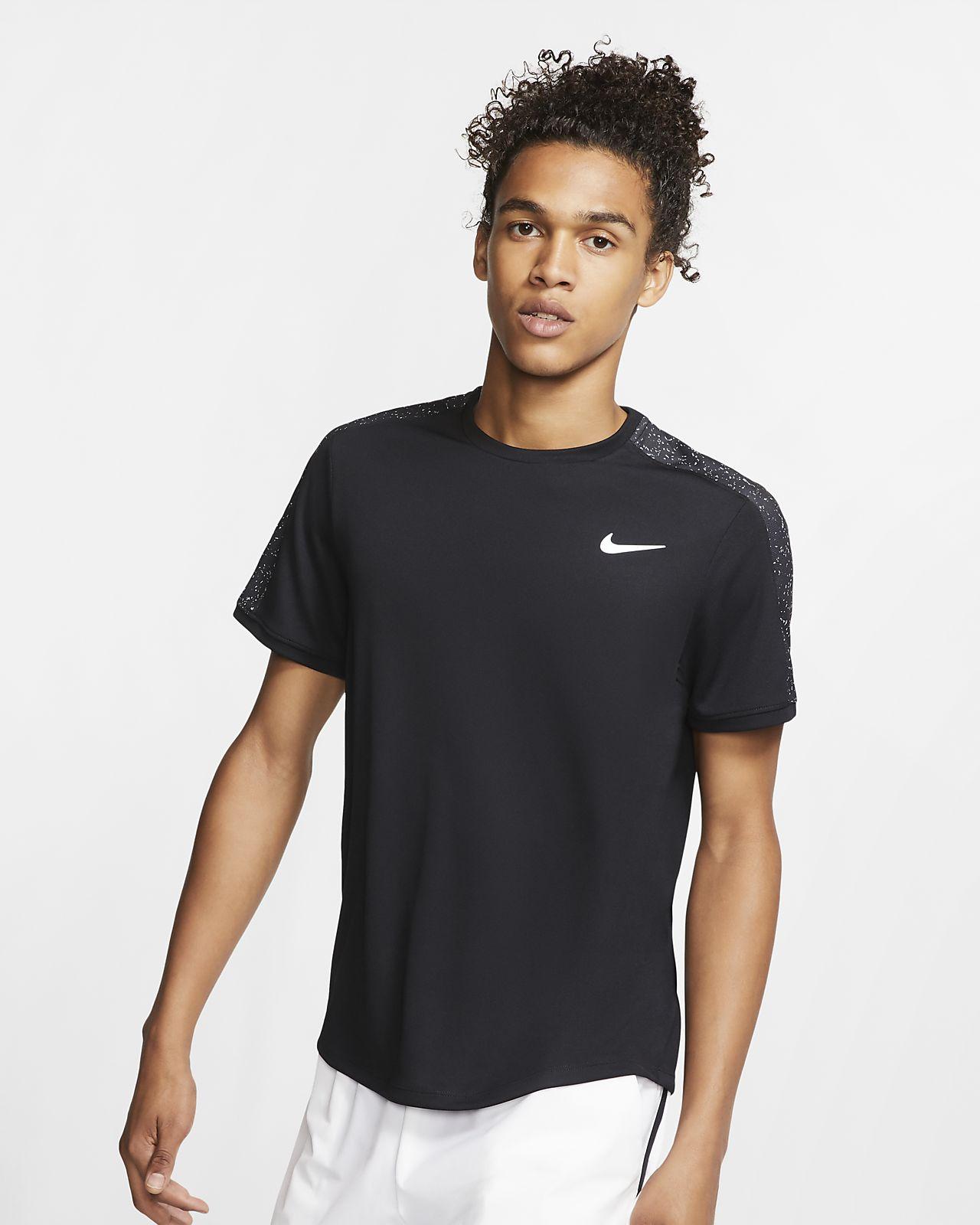 NikeCourt Dri-FIT Men's Short-Sleeve Graphic Tennis Top