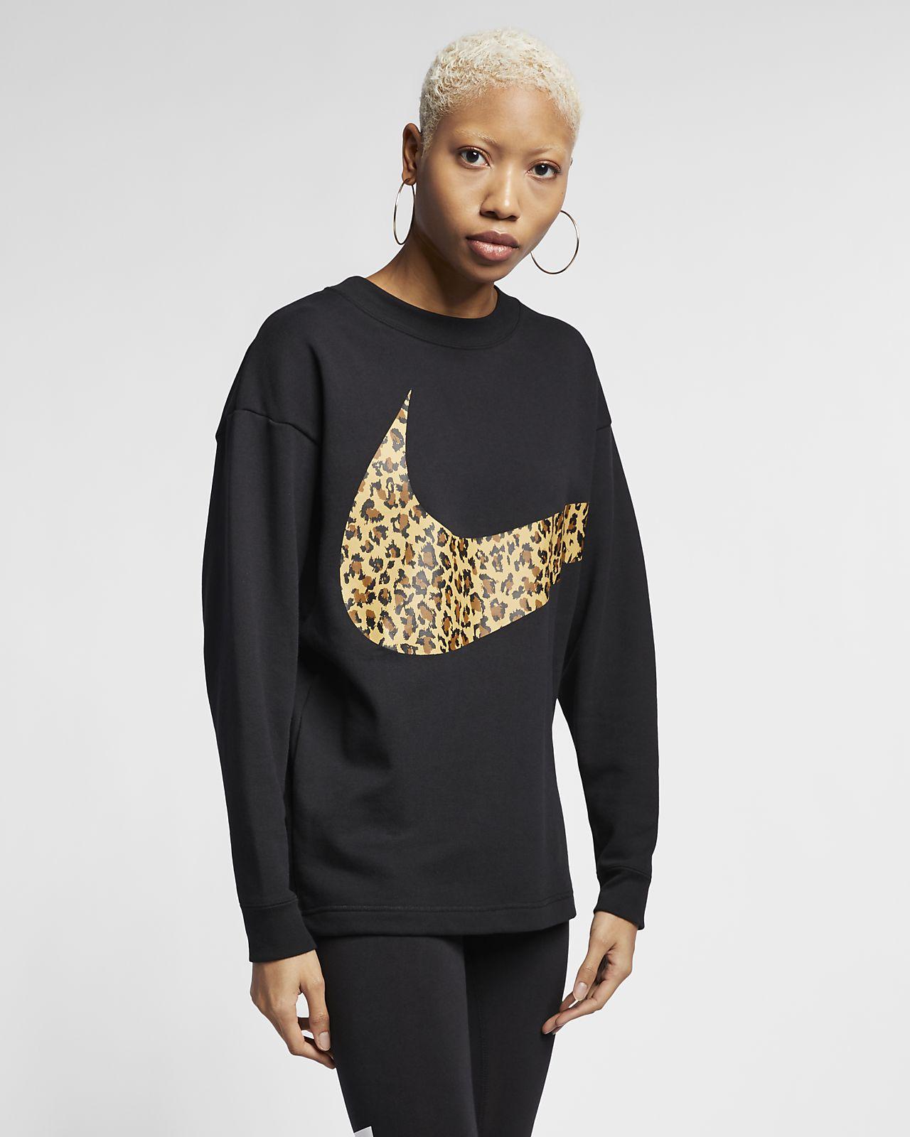 Nike Sportswear Hayvan Baskılı Kadın Crew Üst