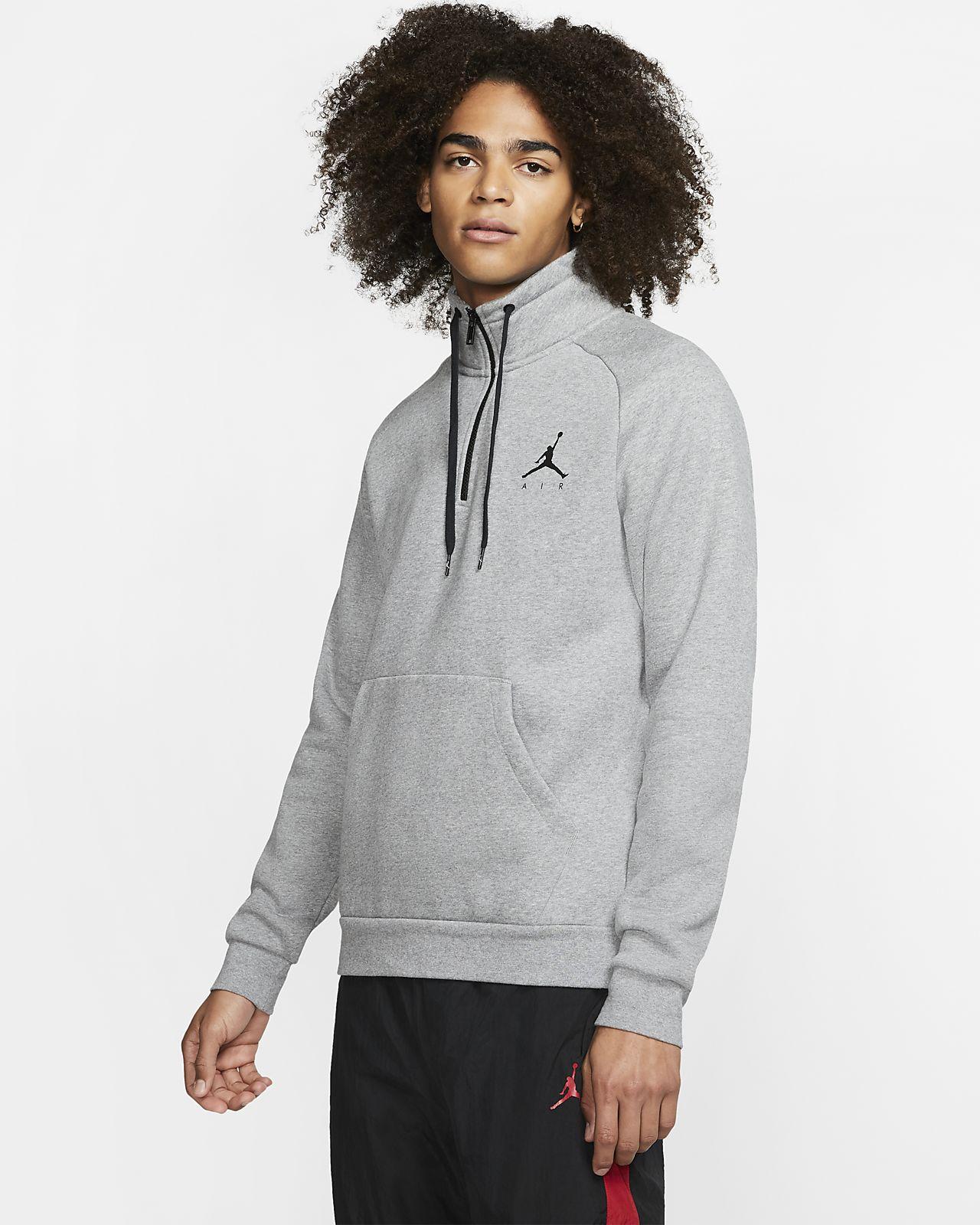 Maglia in fleece con zip a metà lunghezza Jordan Jumpman - Uomo