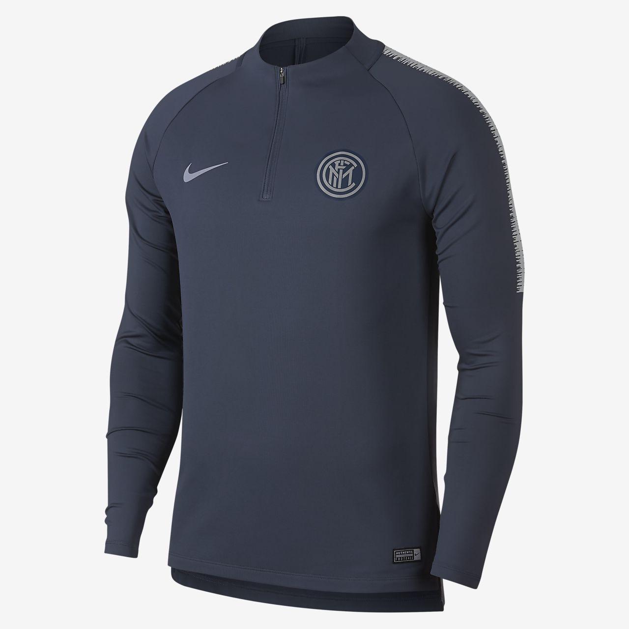 Inter Milan Dri-FIT Squad Drill Men's Long-Sleeve Football Top