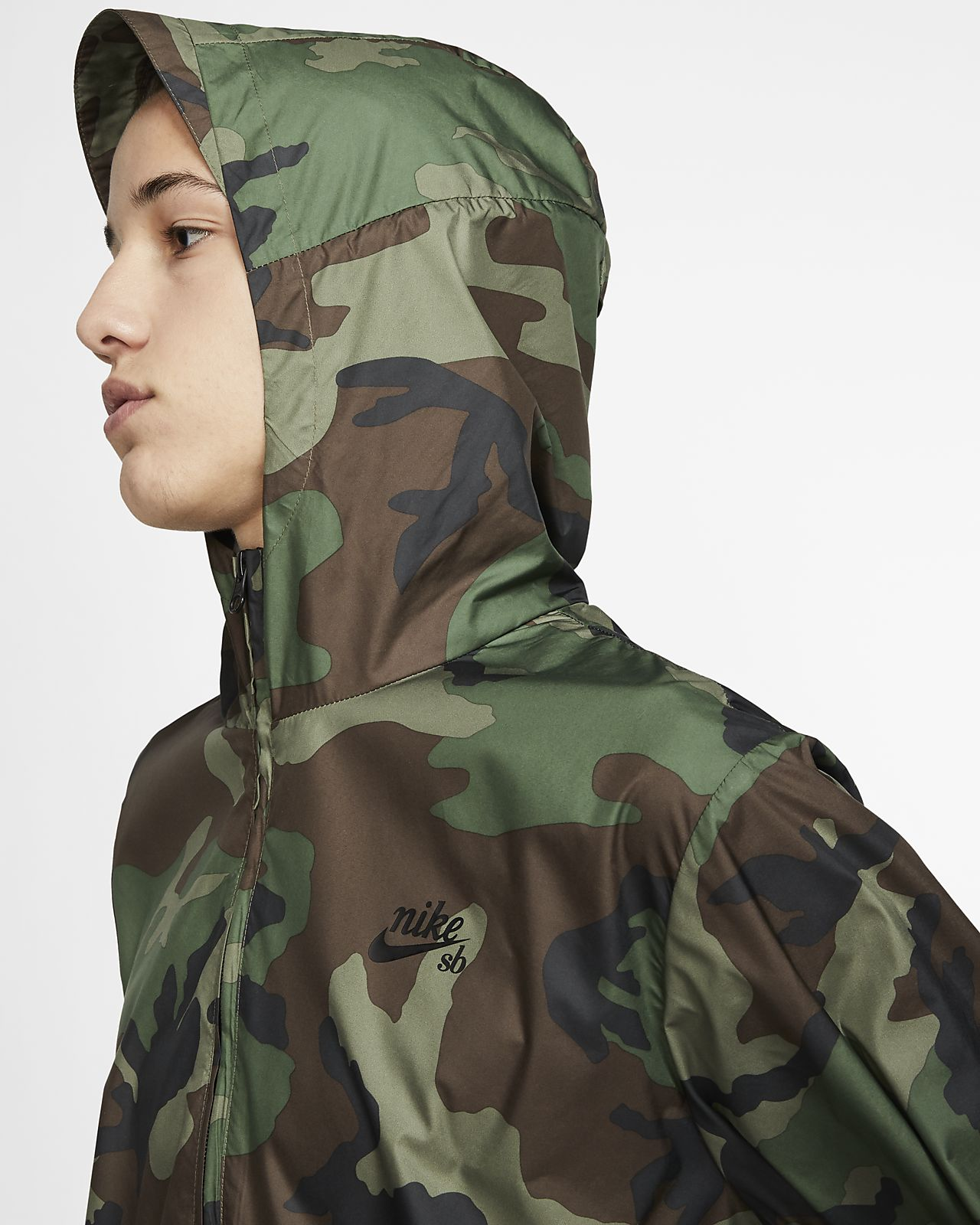 100% authentic 71f4a 29da2 ... Veste anorak de skateboard camouflage Nike SB