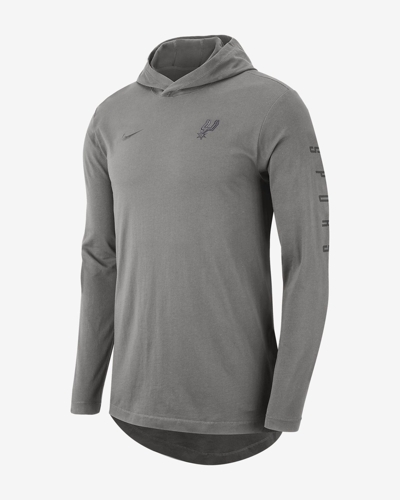 3c74c08973588f San Antonio Spurs Nike Men s Hooded Long-Sleeve NBA T-Shirt. Nike.com