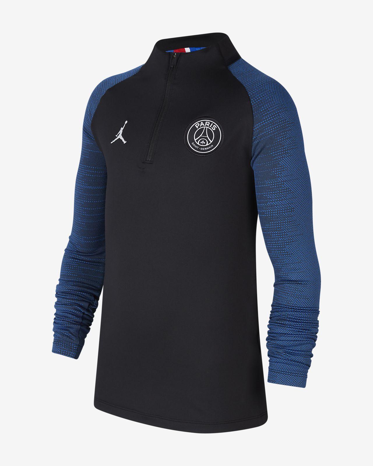 Jordan x Paris Saint-Germain Dri-FIT Strike fotballtreningsoverdel til store barn