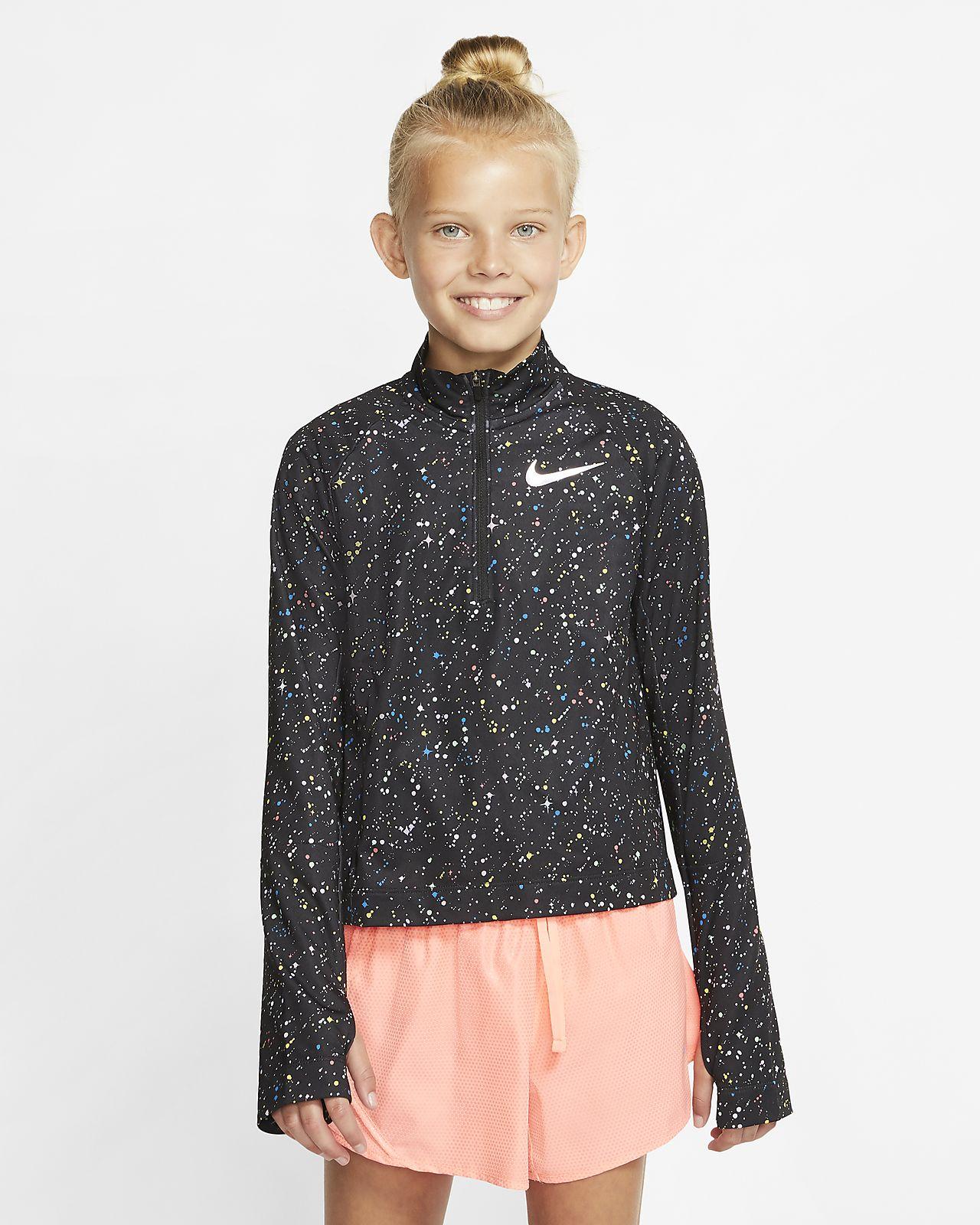 Nike Pro Warm Older Kids' (Girls') Long Sleeve 12 Zip Top