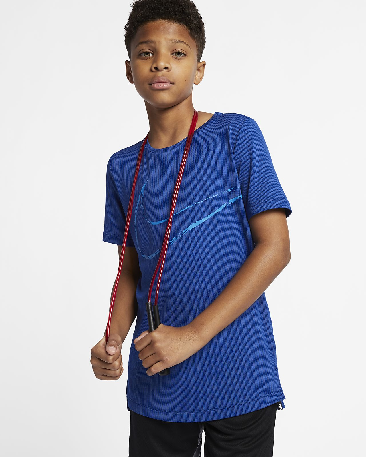 Nike Big Kids' (Boys') Short-Sleeve Fitted Training Top