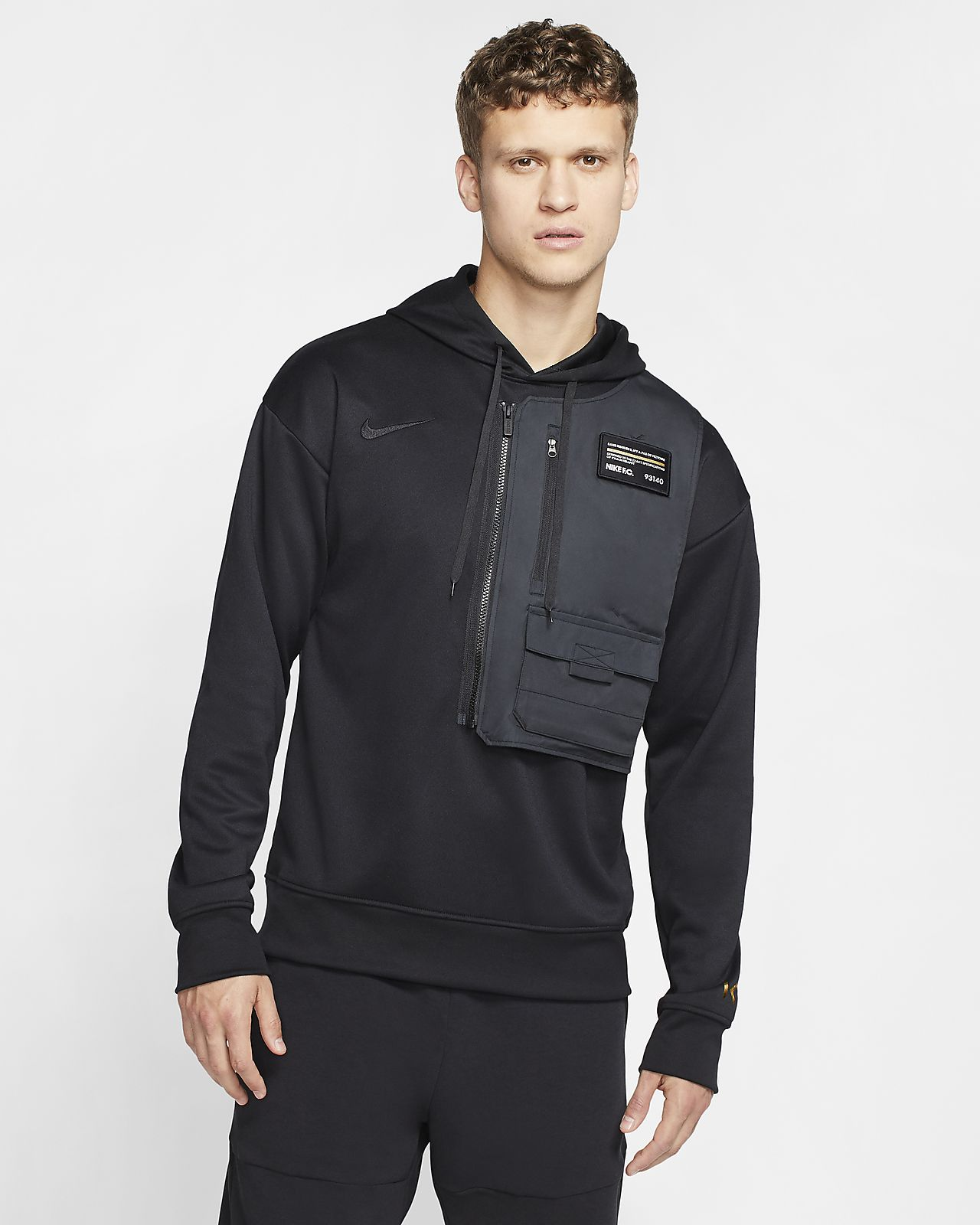 Nike Dri-FIT Bondy-fodboldpullover-hættetrøje til mænd