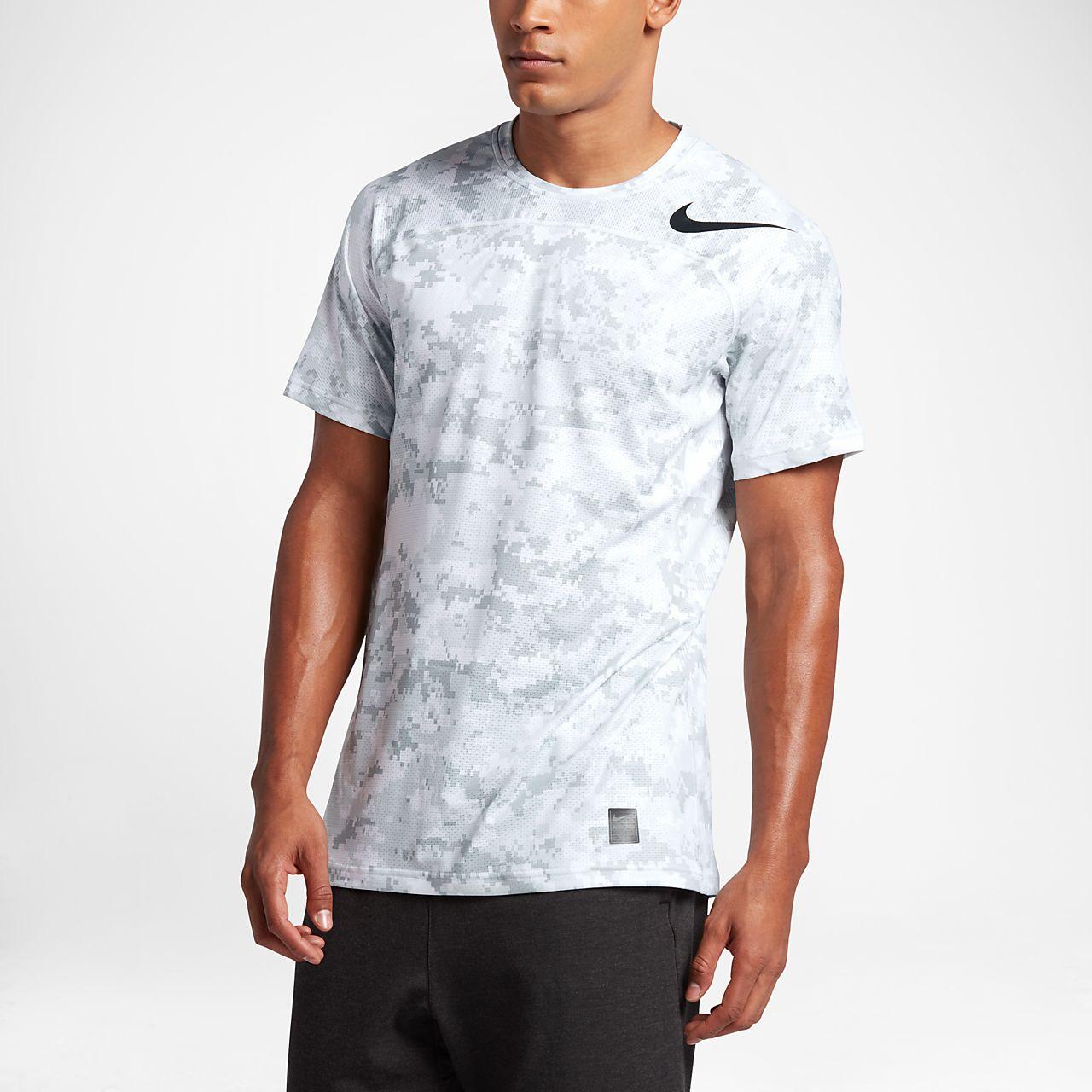 Nike Pro HyperCool Men's Short Sleeve Training Top White/Platinum/Black