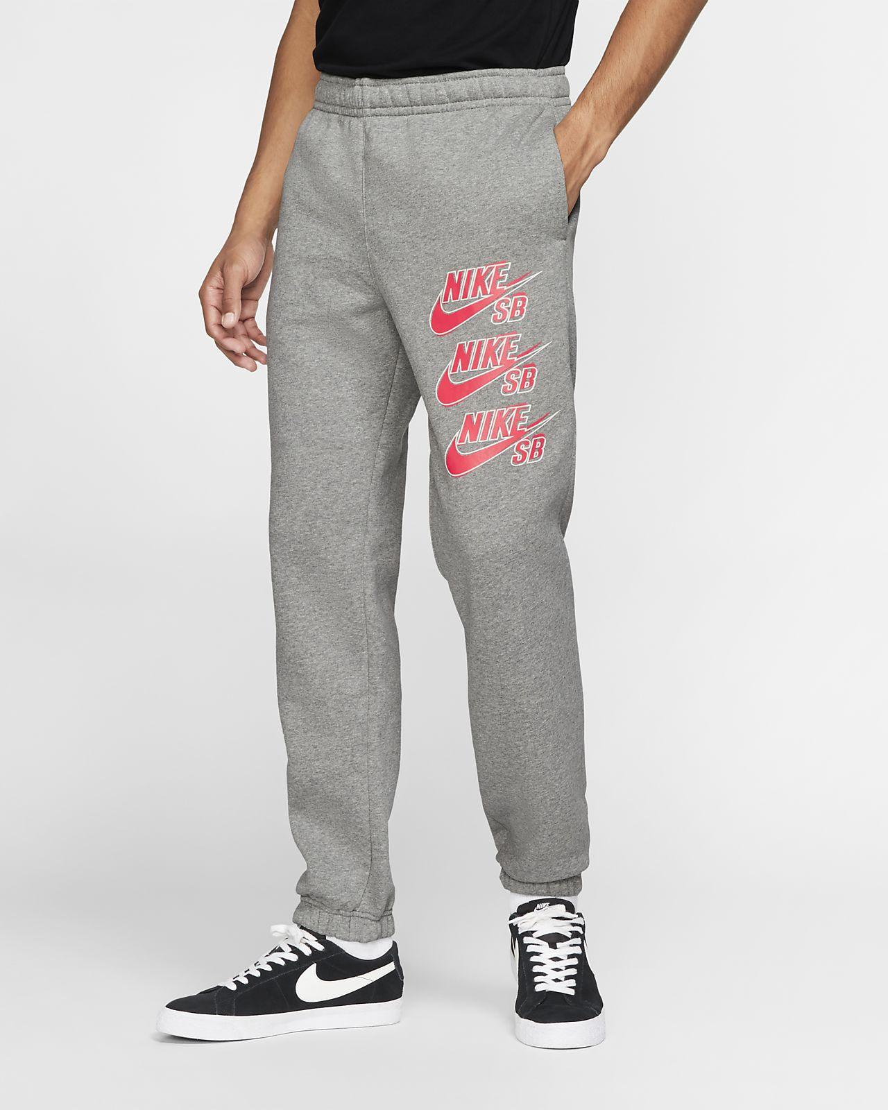Pantalon de skateboard en tissu Fleece Nike SB Icon pour Homme
